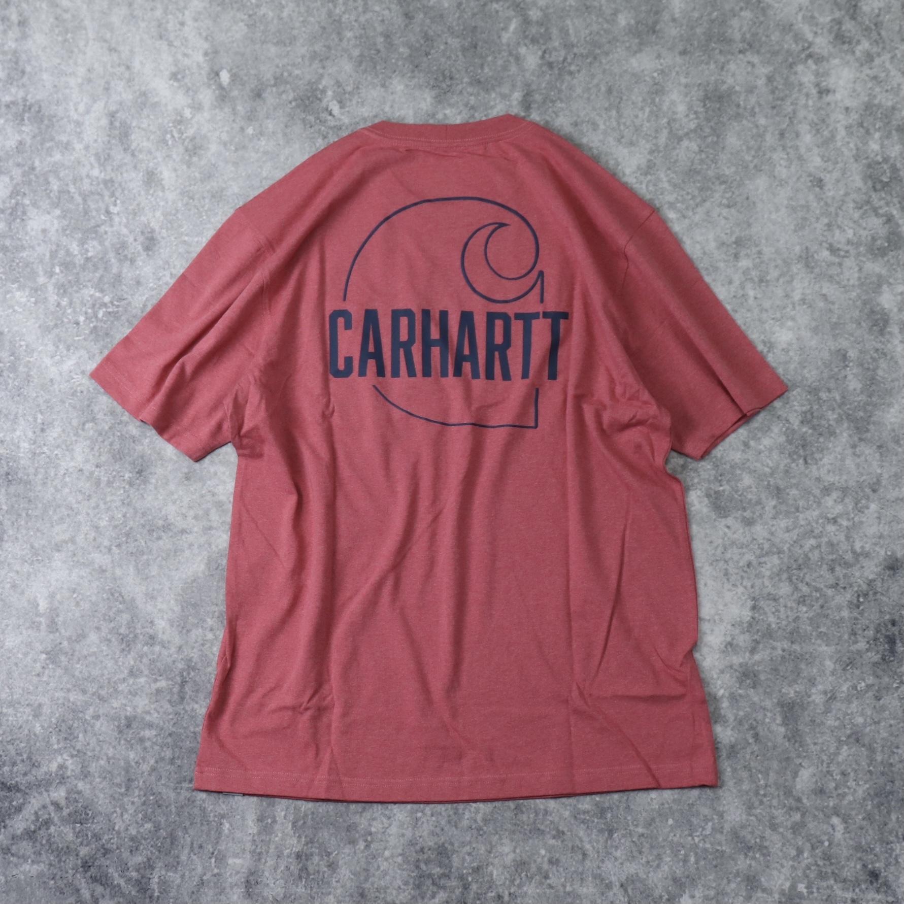 """新品 """" CARHARTT """" カーハート バックプリントTシャツ (BLUSH PINK) USA規格 新品"""