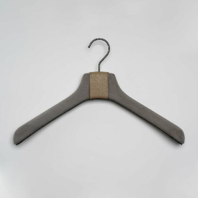 Pinetti Coat Hanger Suede and Leather 2set / Luxor(コートハンガースエードアンドレザー2本セット/ルクソール)1061-145