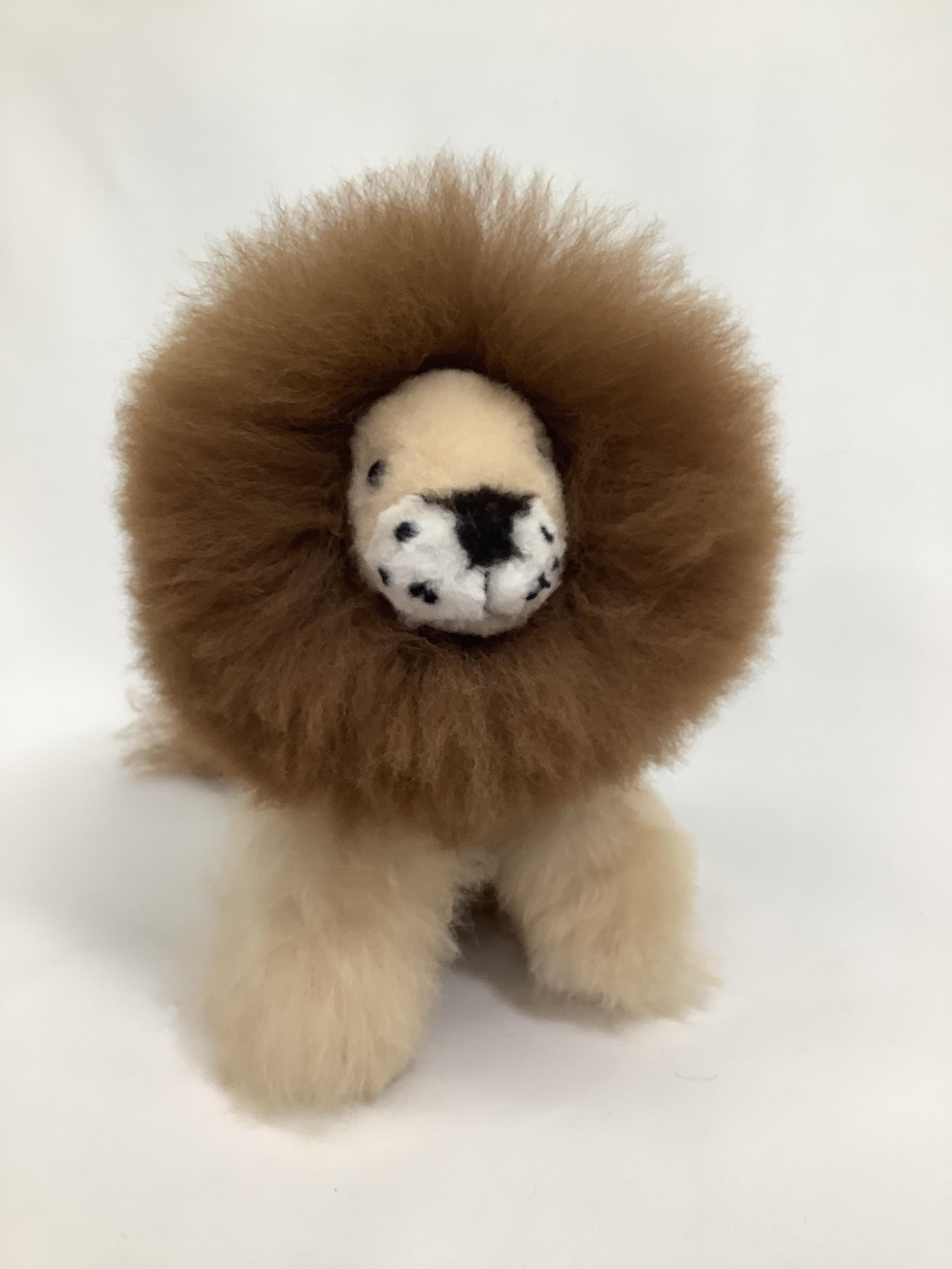 アルパカ純毛 ライオン小2