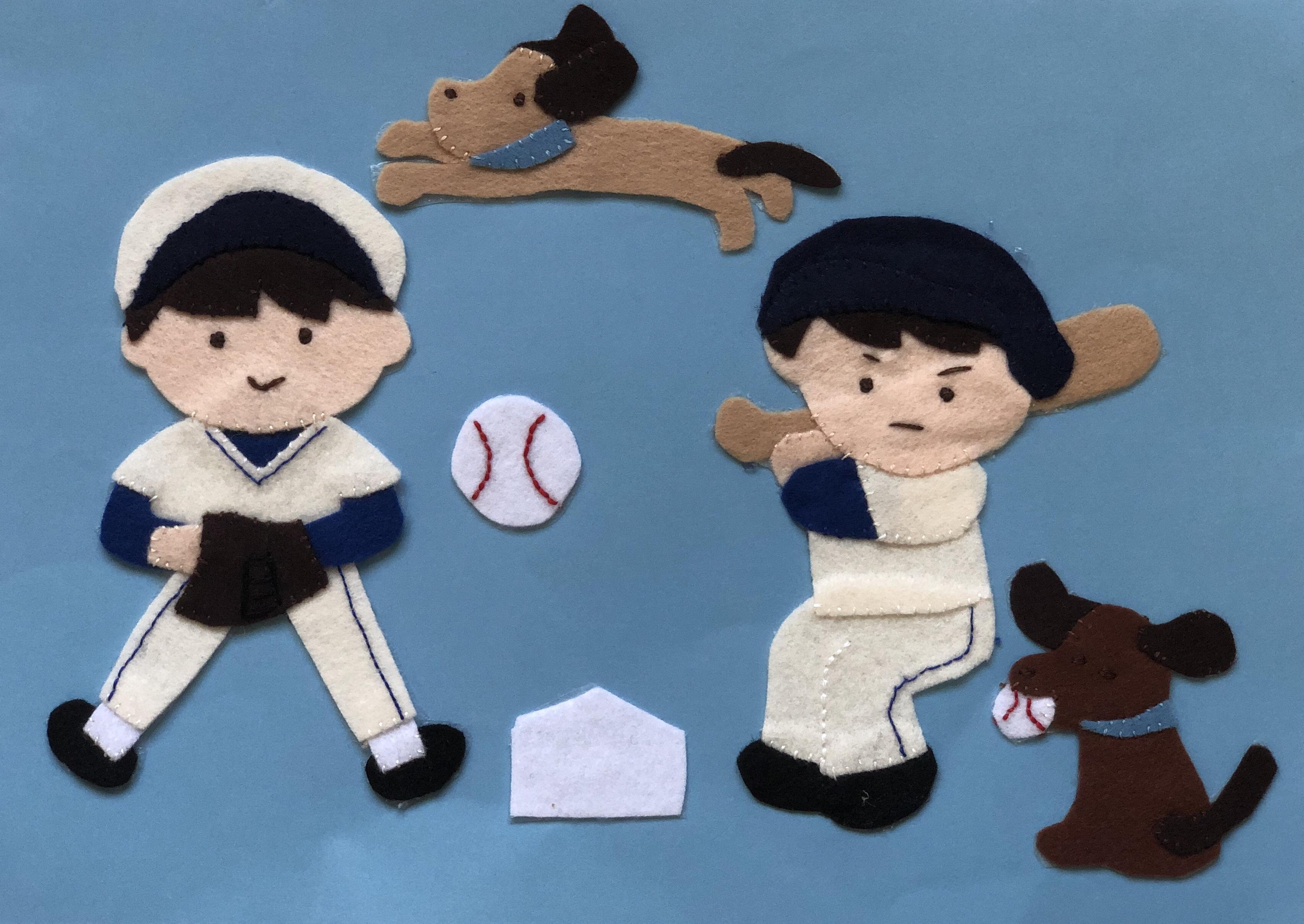 ワンチャンが野球の応援団