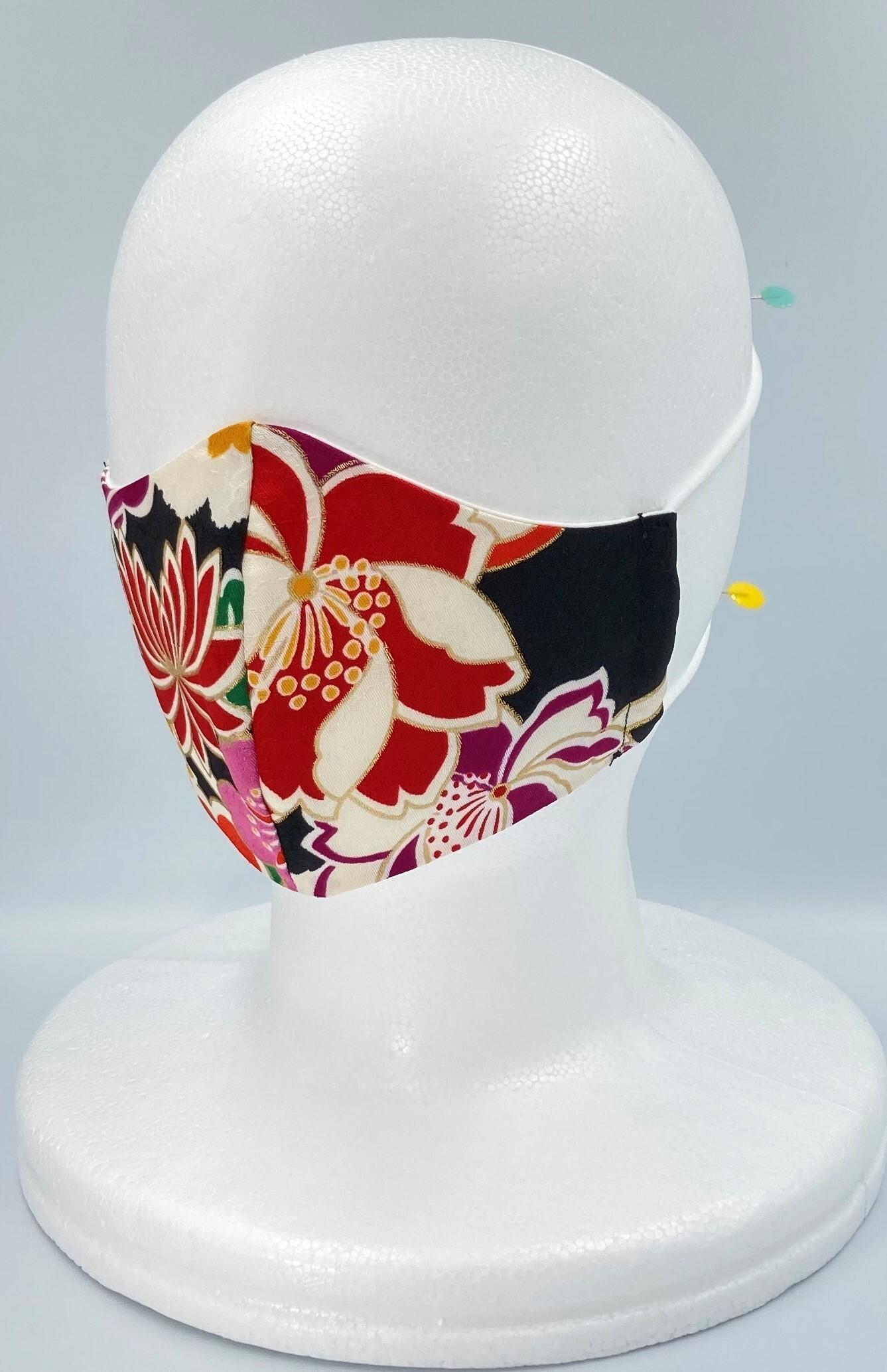 リメイク着物マスク A009