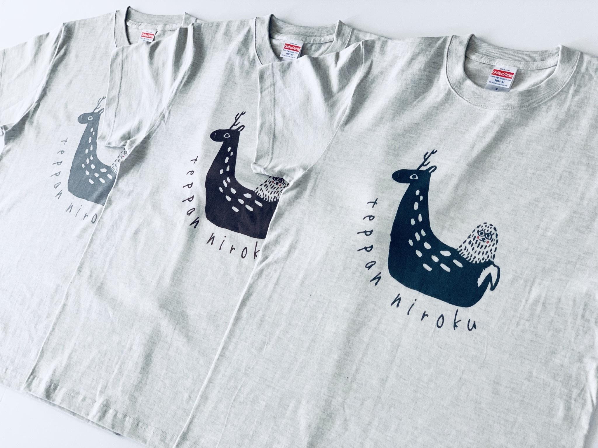 (大人)宮島 鹿ざるT shirt