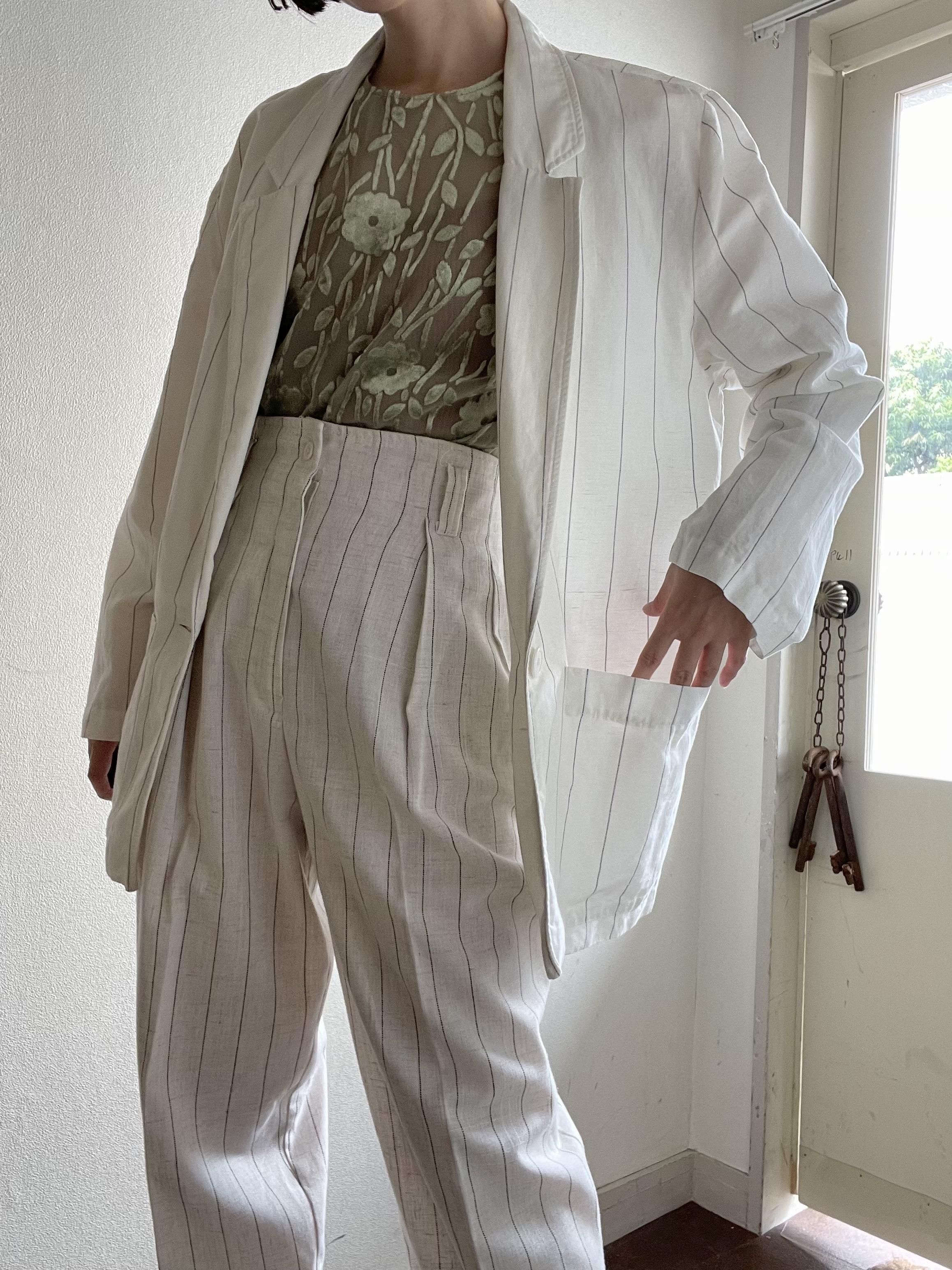 Cotton linen blend Jacket