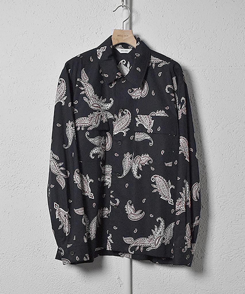 【WELLDER】Box Fit Shirt(Navy) WM21SSH07