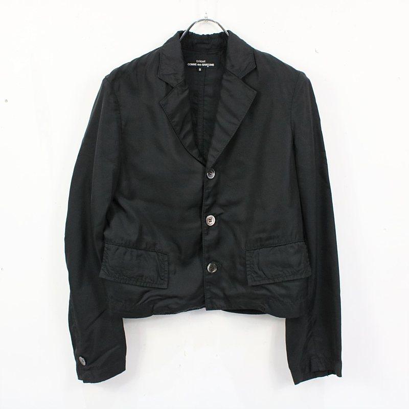 tricot COMME des GARCONS / トリココムデギャルソン | 2006SS | キュプラ3Bショートジャケット | S | ブラック | レディース