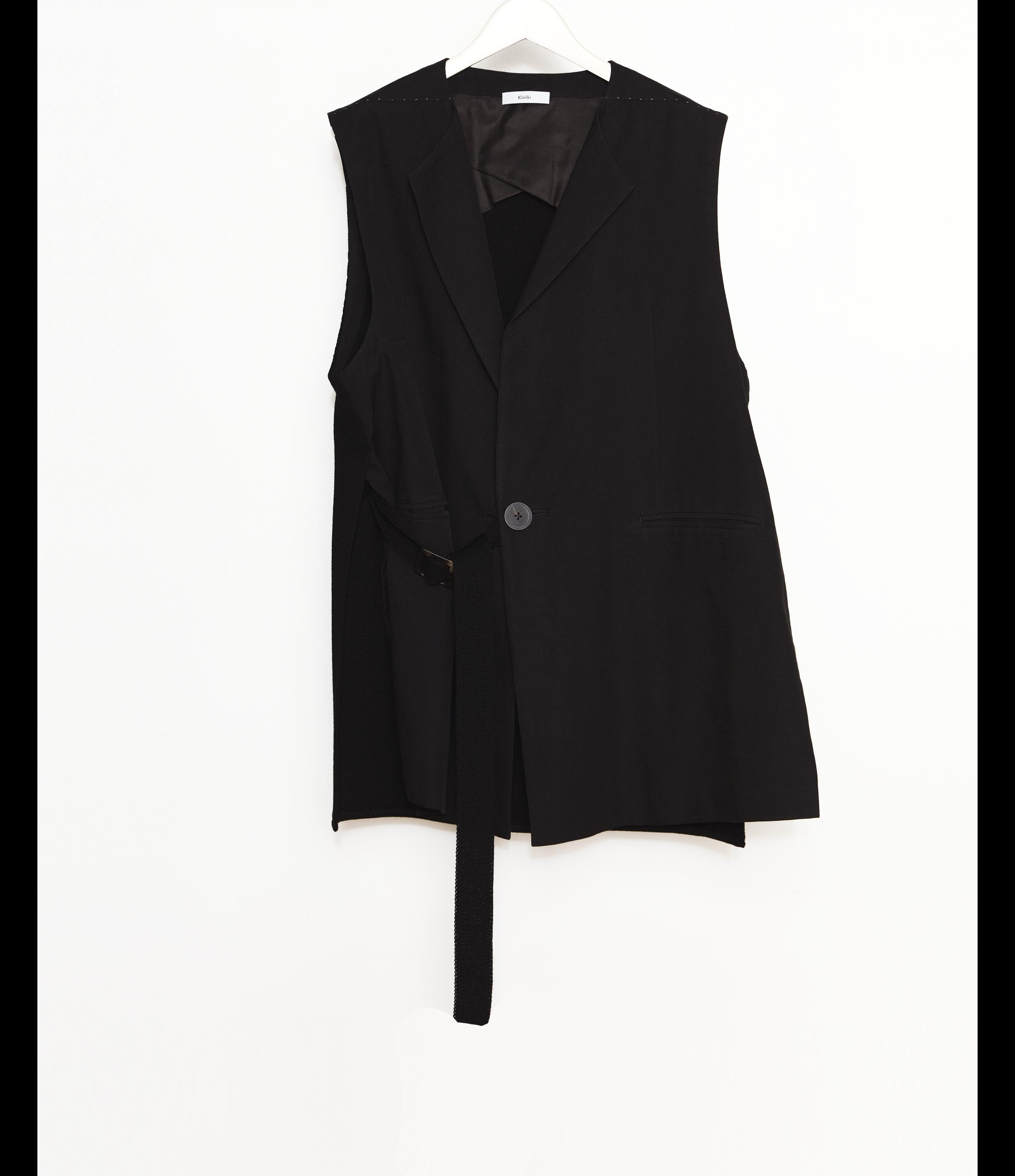 No Sleeve Jacket / Black