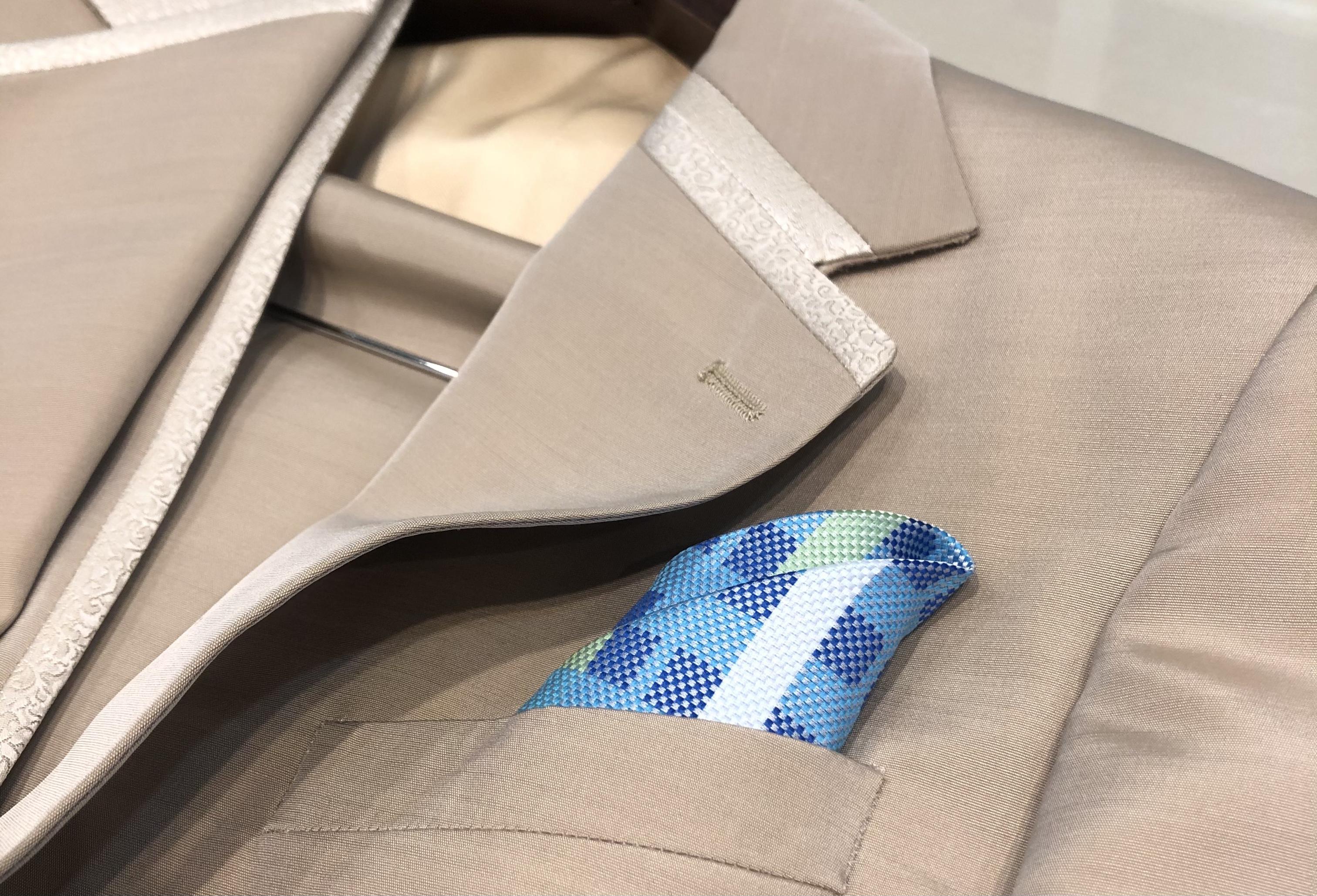 ポケットチーフ-ブラッド ブルー