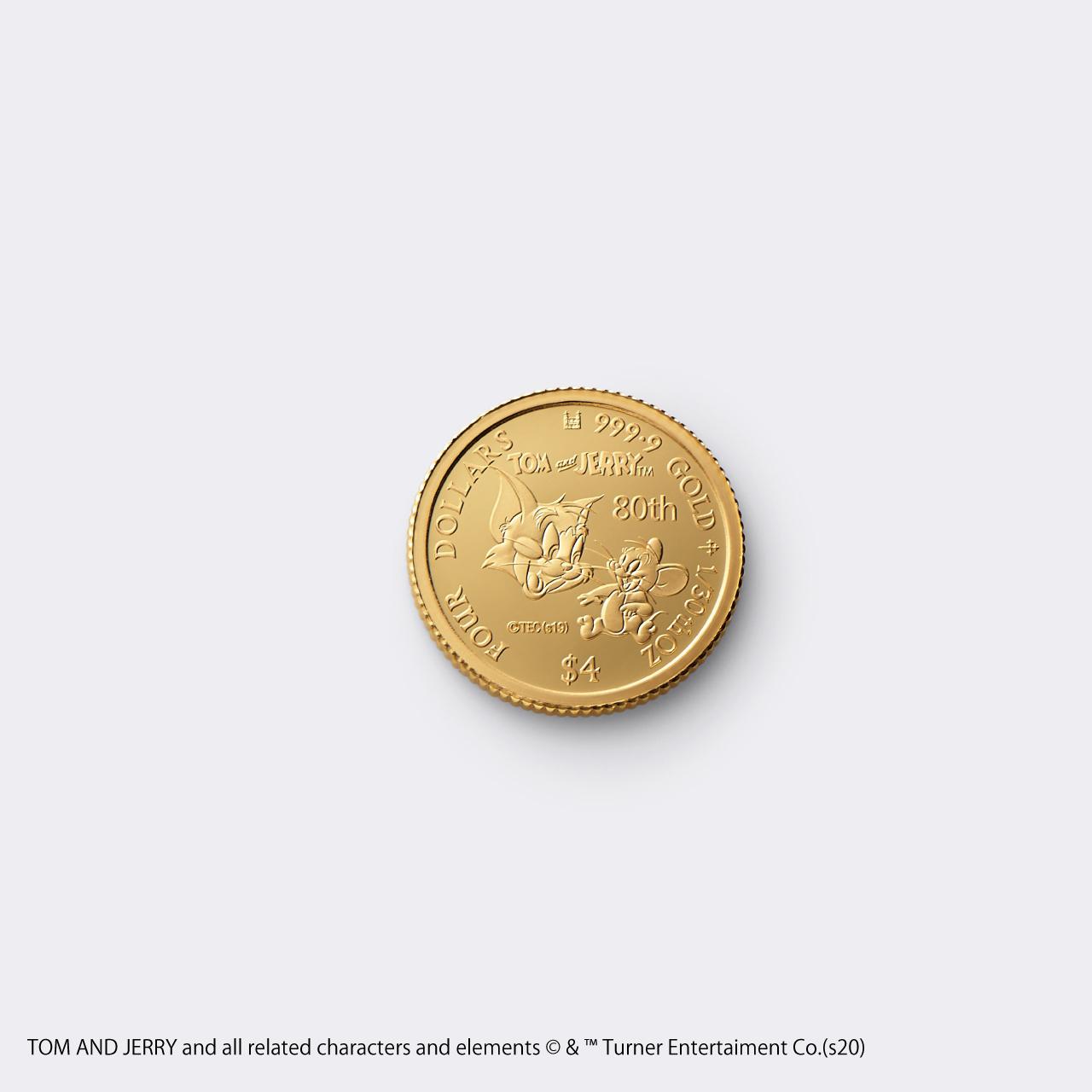 2020 TOM&JERRY 1/30 GOLD PROOF COIN(トムとジェリー 80周年記念硬貨 1/30オンス)