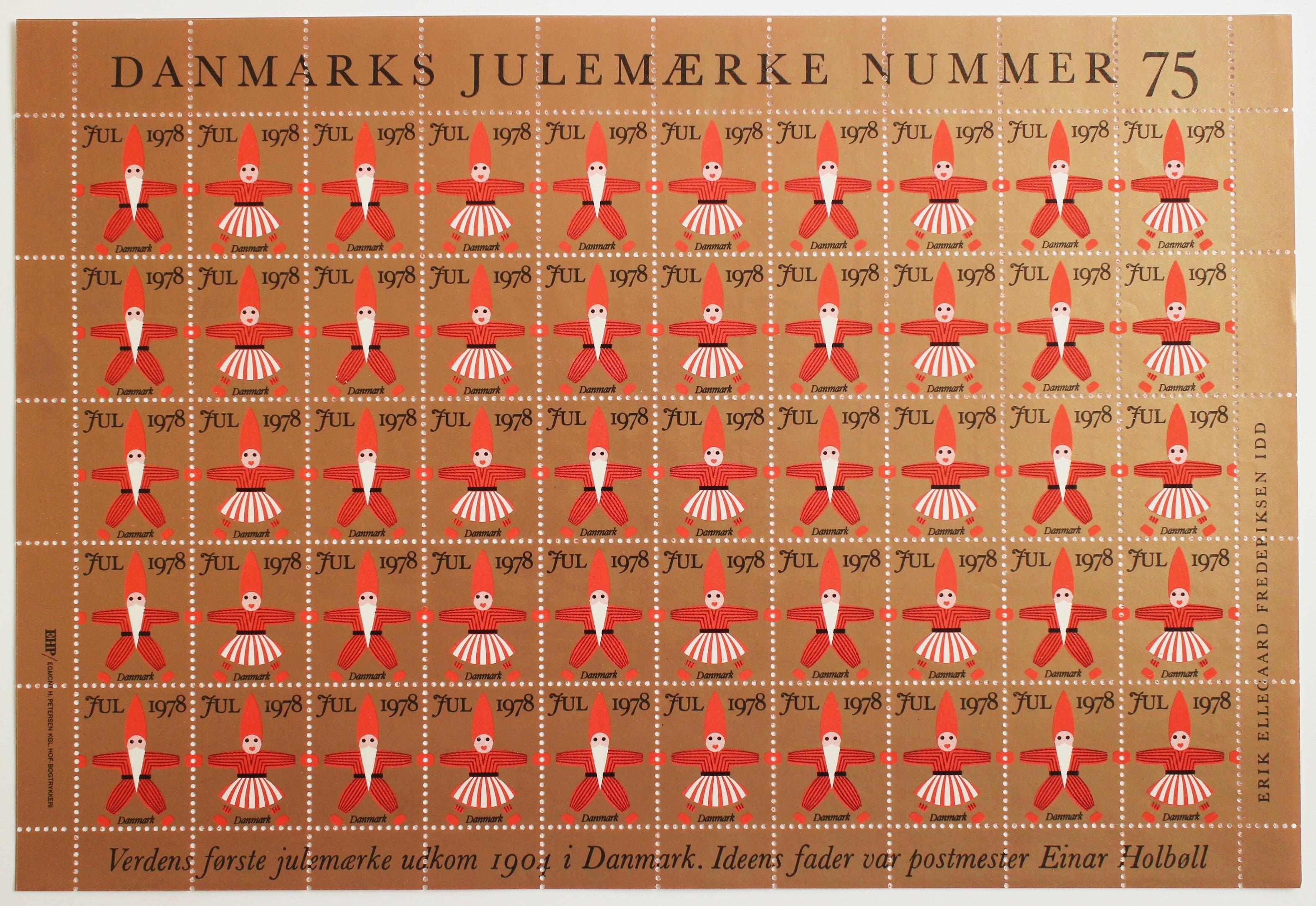 クリスマスシール / デンマーク 1978