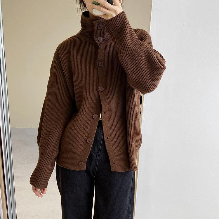 〈カフェシリーズ〉タートルネックデザインセーター【turtle neck design sweater】