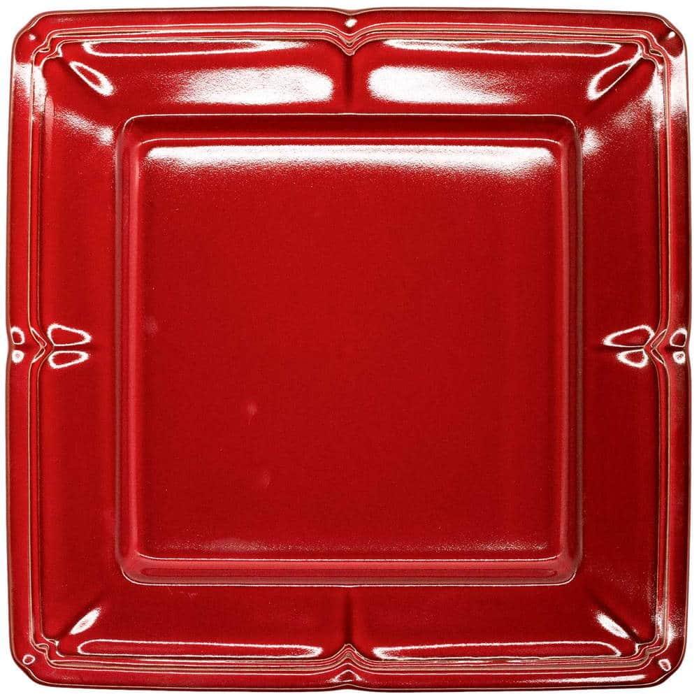 Koyo ラフィネ スクエア プレート 皿 約27.5cm ヴィンテージレッド 15944061