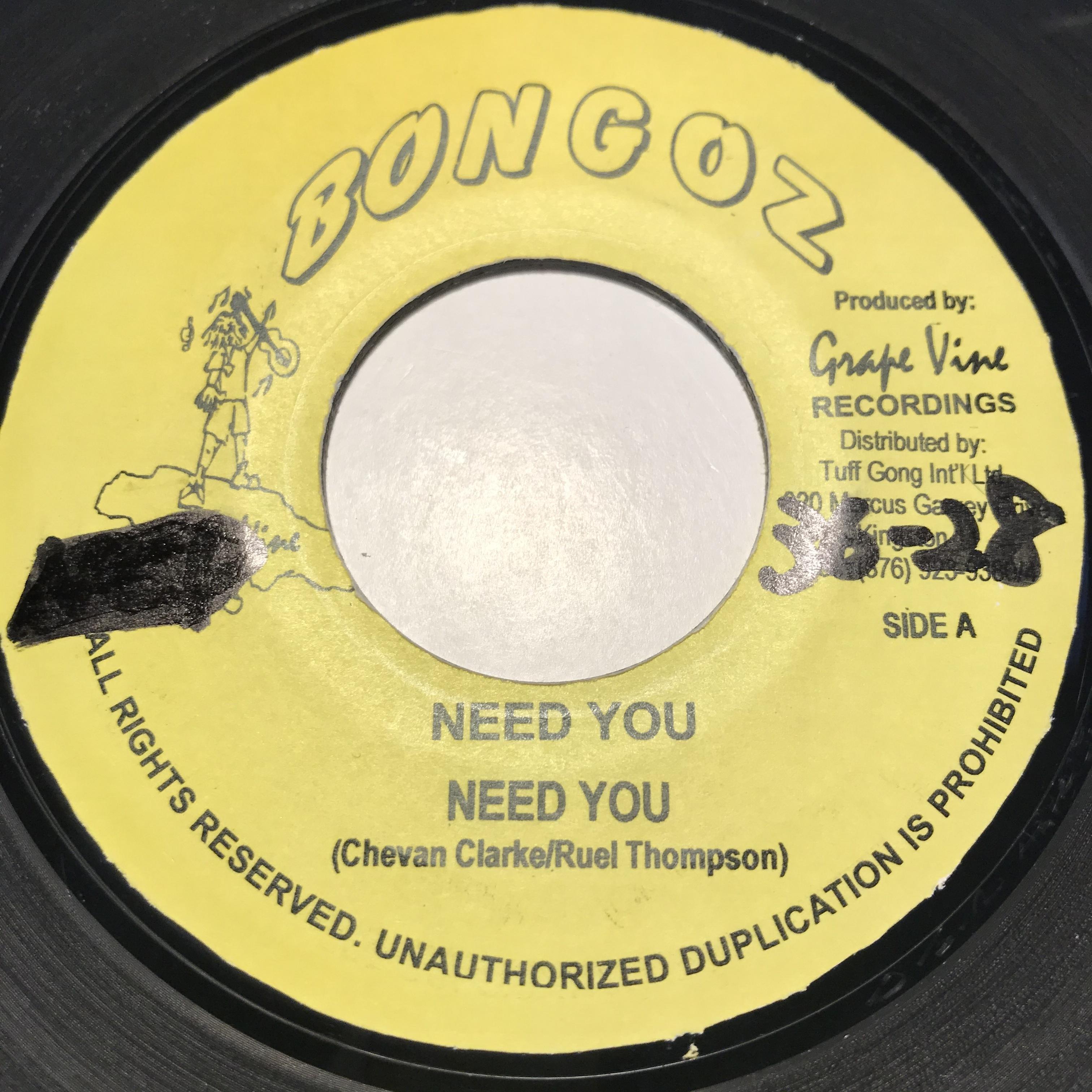 Bongoz - Need You【7-10860】