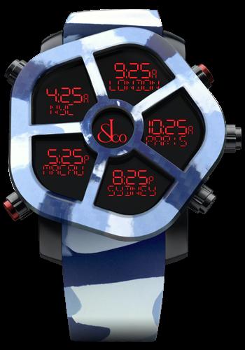 【JACOB&CO. ジェイコブ】JC-GST-CAMOBL/GHOSTゴースト(カモフラブルー) /国内正規品 腕時計