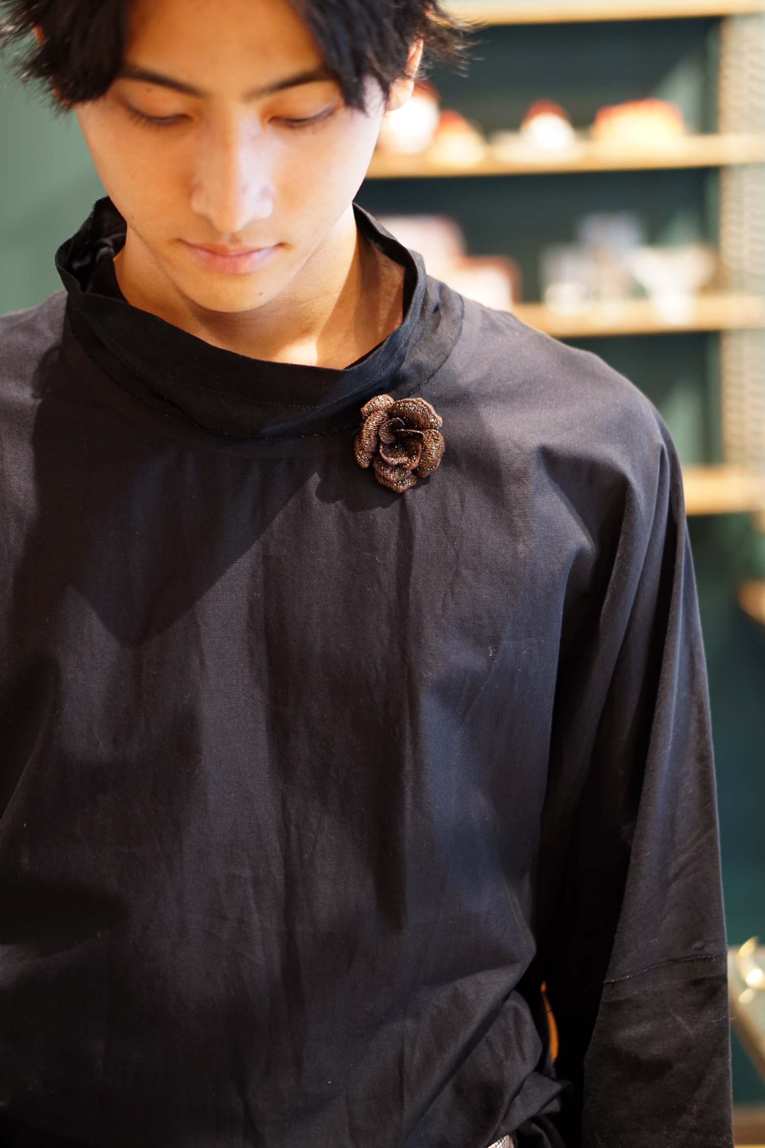 【全6色】立体刺繍のメンズコサージュ