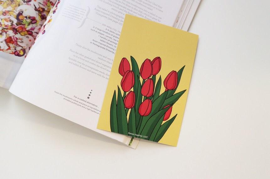 [OP-08]ポストカード(あかチューリップ)