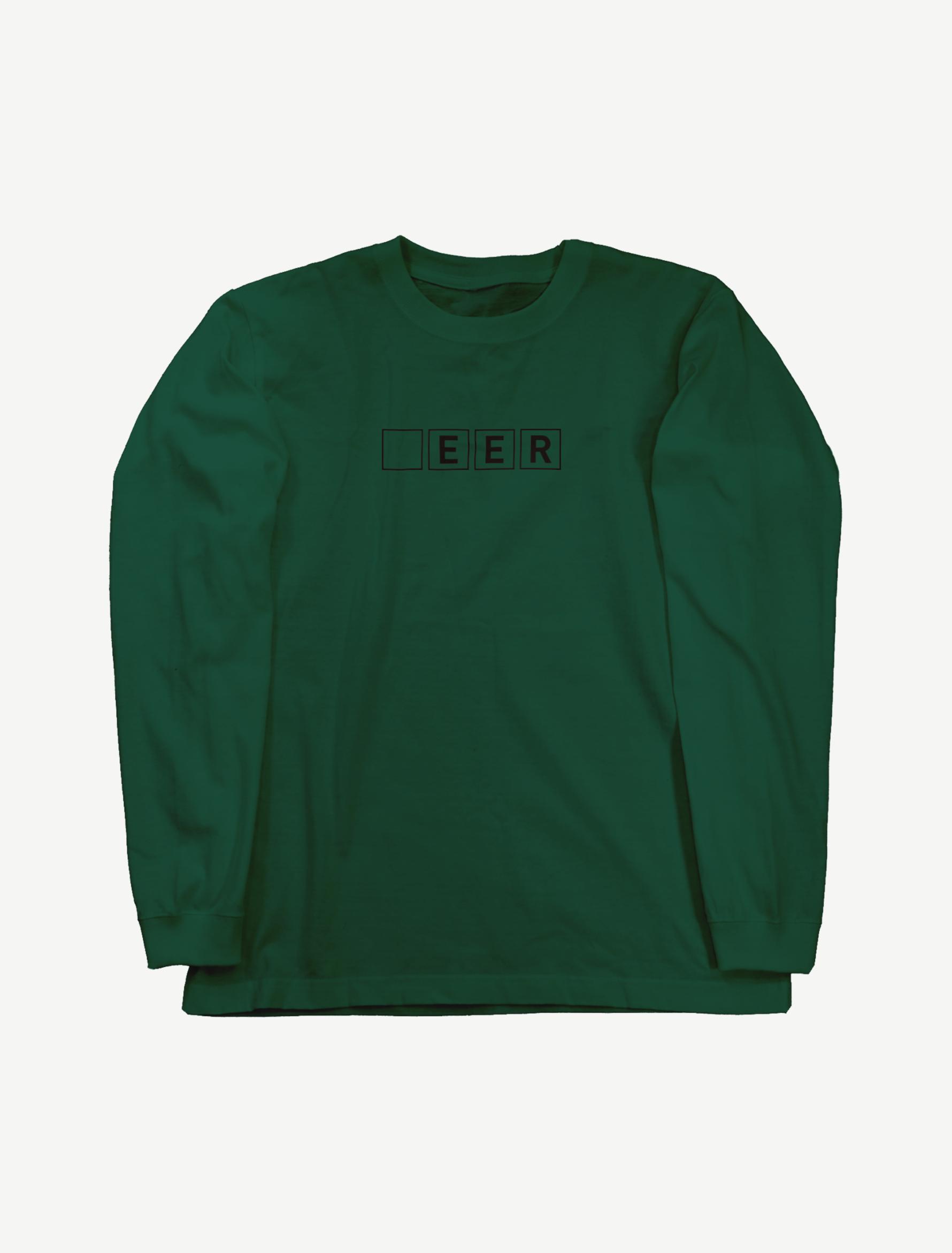 【□EER】ロングスリーブTシャツ(アイビーグリーン)