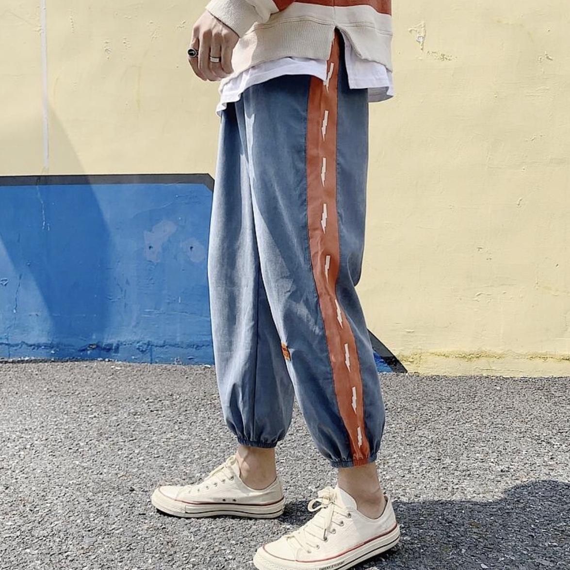 裾リブ カジュアルパンツ 秋服 韓国