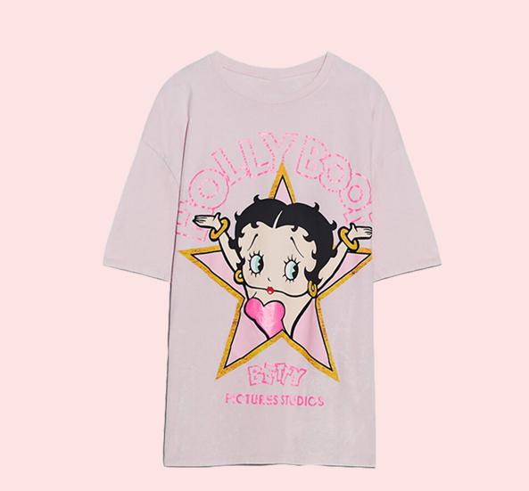 【SELECT】】BETTY BOOPスタープリントTシャツ