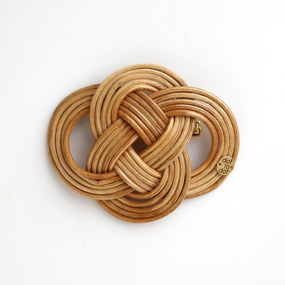 nanohana broach(brown)