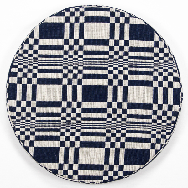 JOHANNA GULLICHSEN Disc Cushion Doris Dark Blue