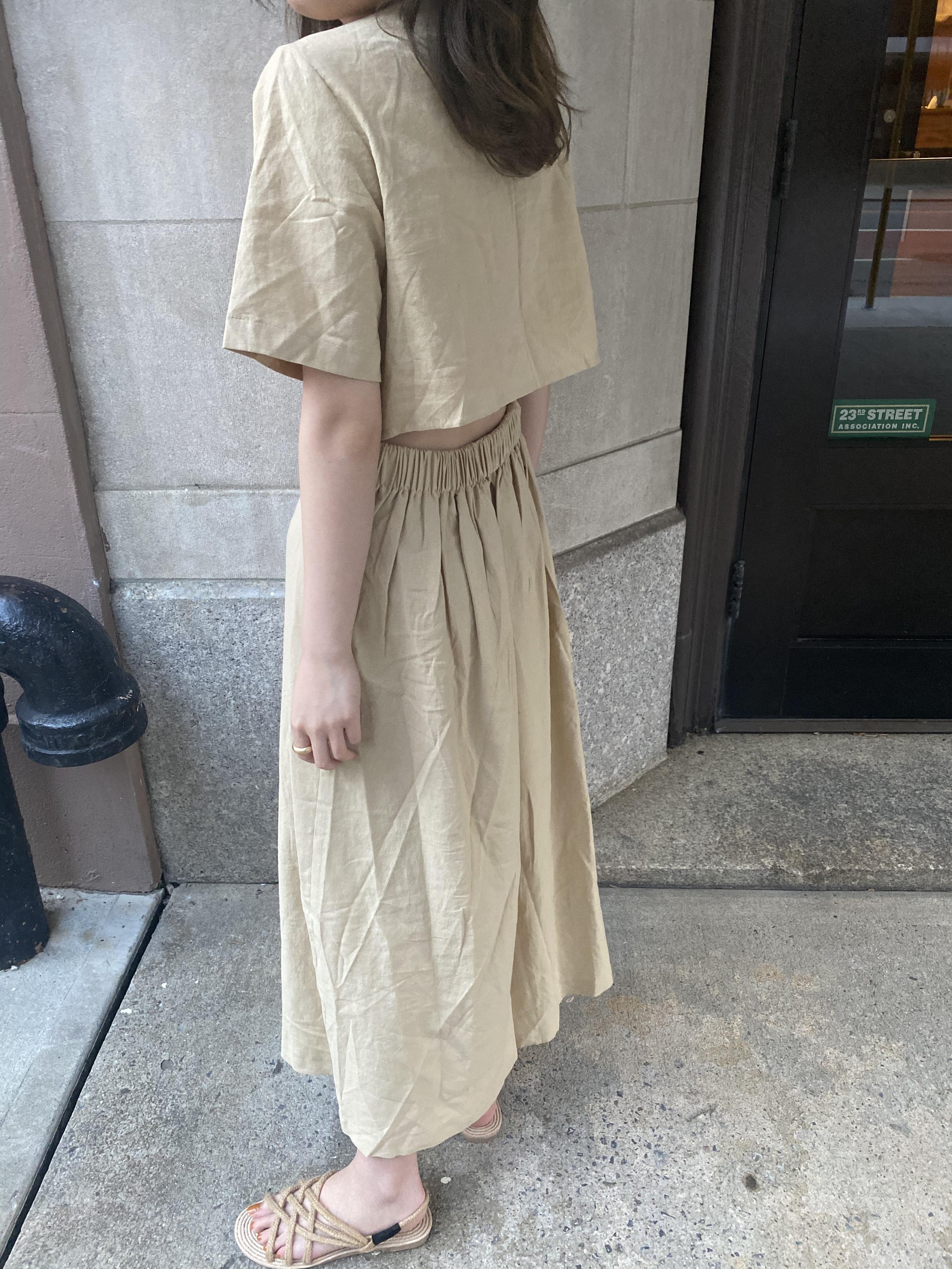 DAYNYC Backcut dress