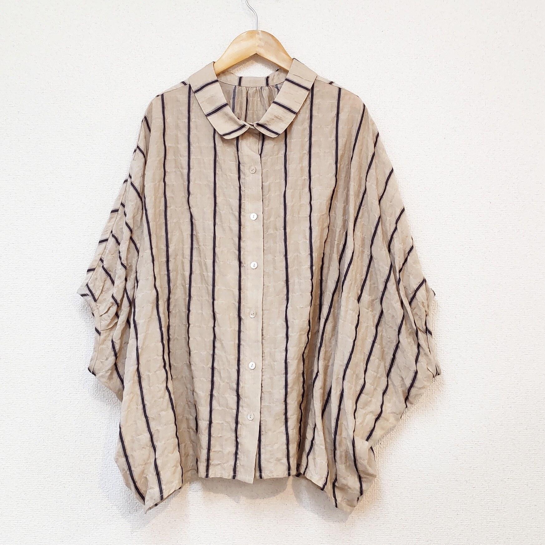 <<restock>>striped big shirt
