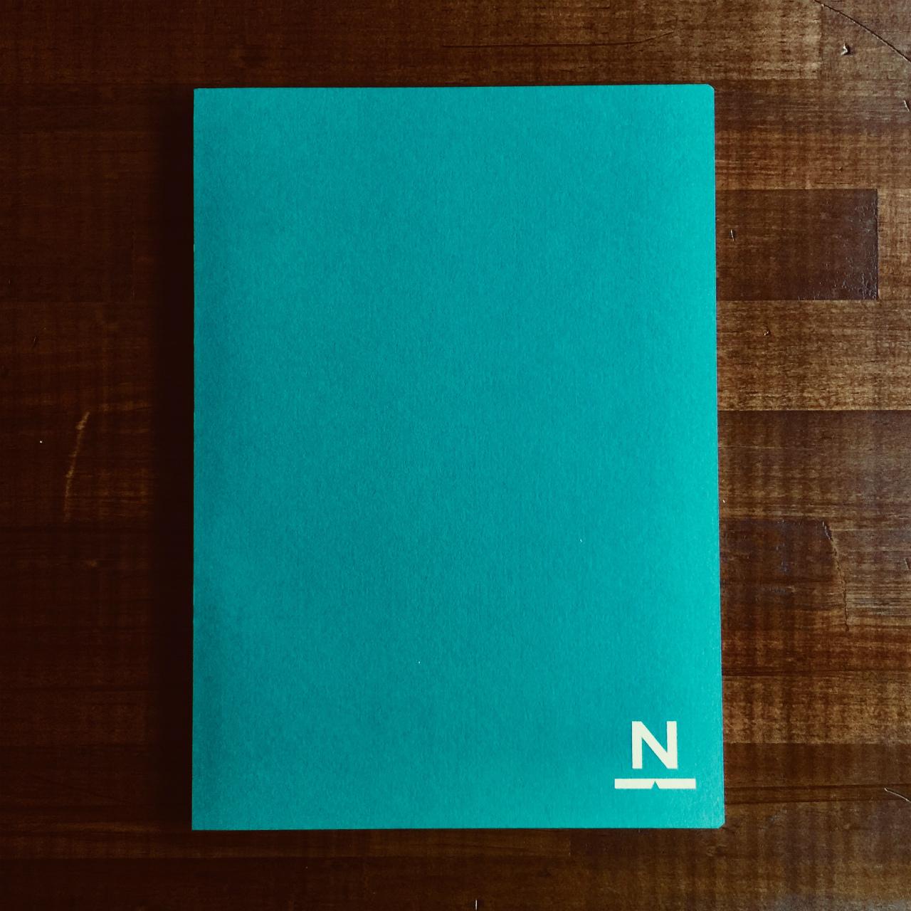 ノンブルノート「N」(04)ピーコックグリーン×ロイヤルブルー(※2020マンスリー付)