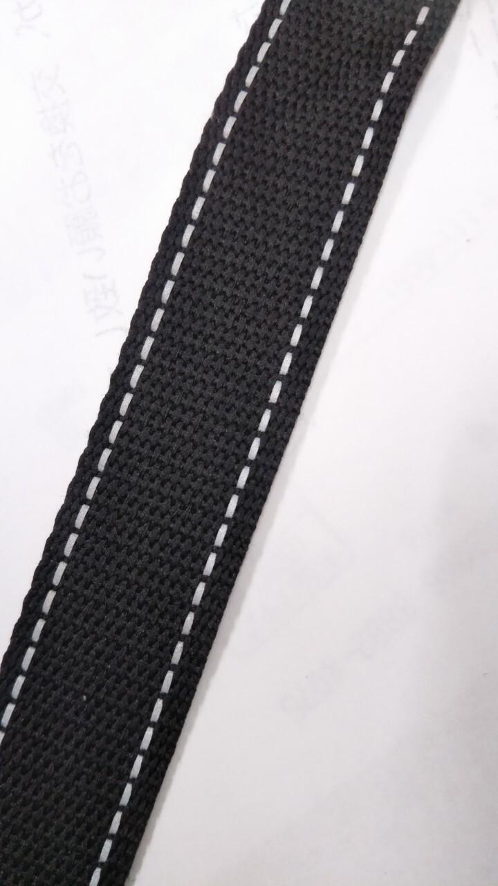 反射テープ 15㎜幅 ポリエステル 黒 1m