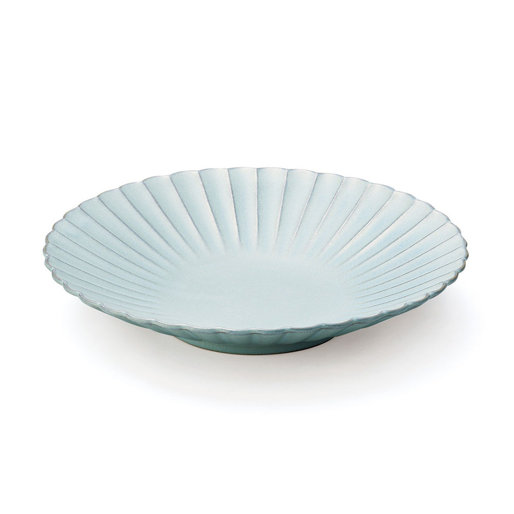 「花 hana」プレート 皿 23cm L みずはだ 瀬戸焼 288150