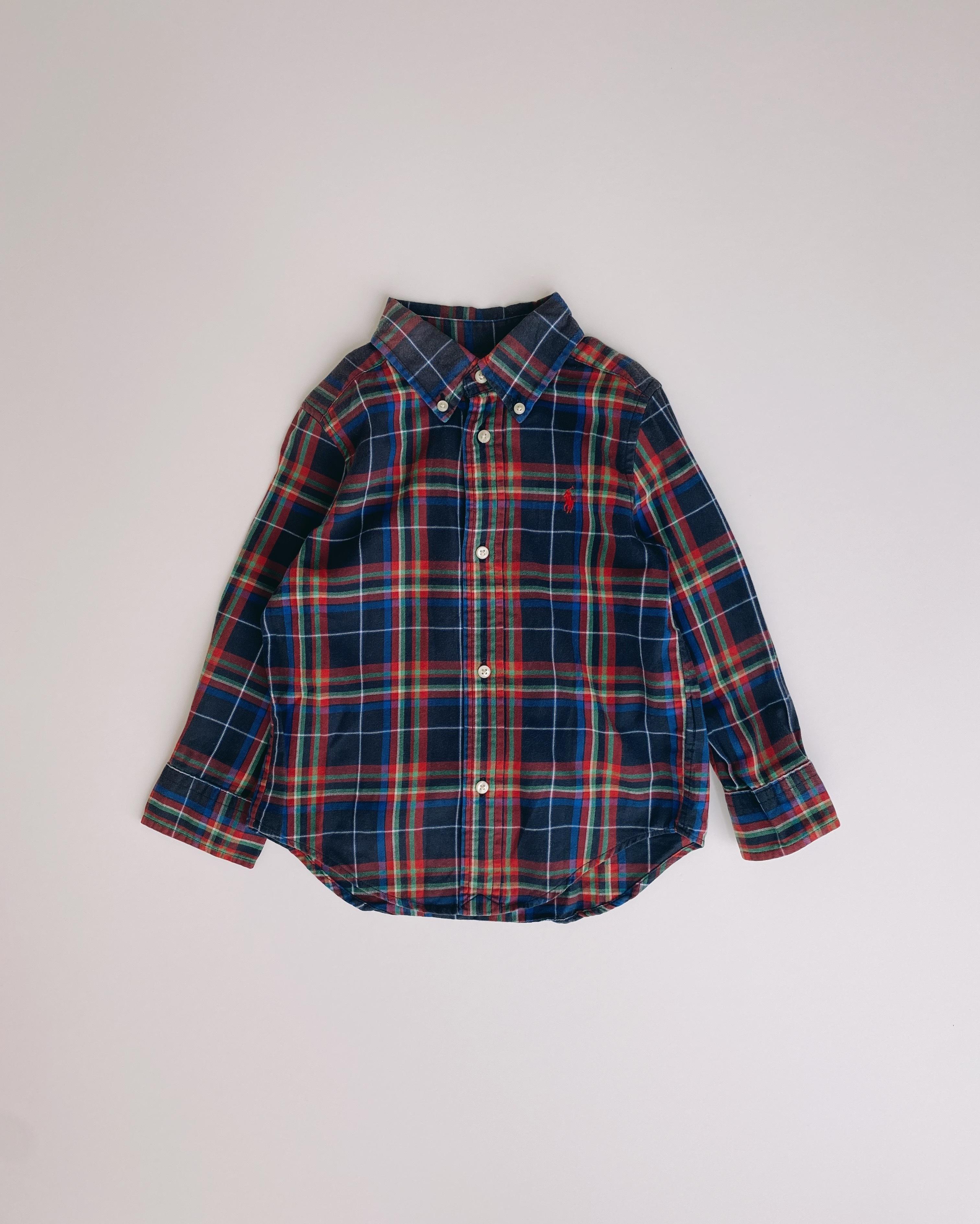 (KD010)100cm Ralph Lauren checked shirt