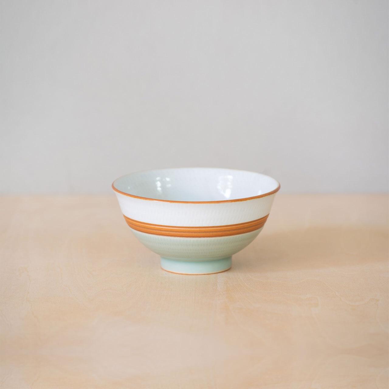 掛分飛鉋茶碗(小)・青