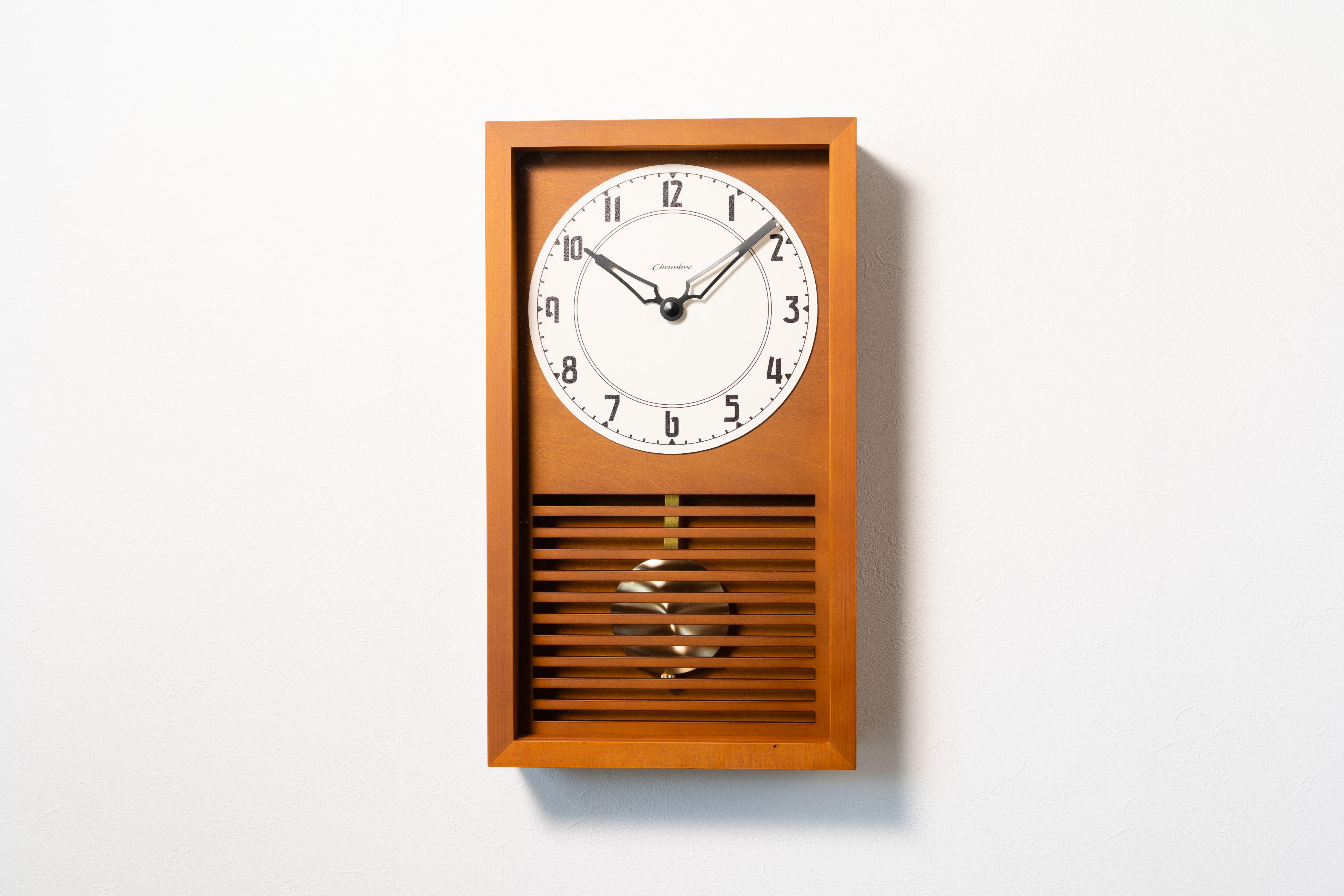 〈NEW〉振り子時計 LATTICE PENDULUM CLOCK 【CAFE BROWN】