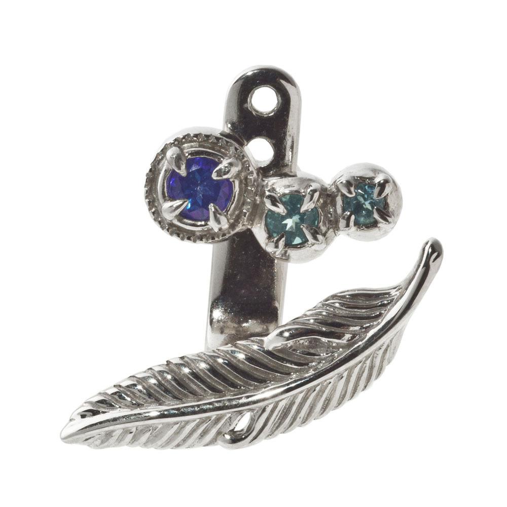 フェザーイヤージャケットピアス ACE0150 Feather ear jacket earrings