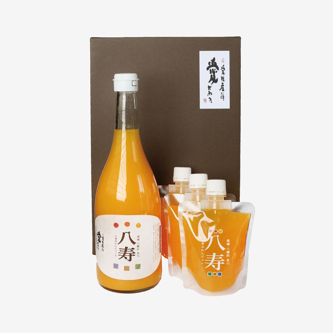 八寿みかんジュース&ジュレ ギフトセット(ジュース1本、ジュレ3個)