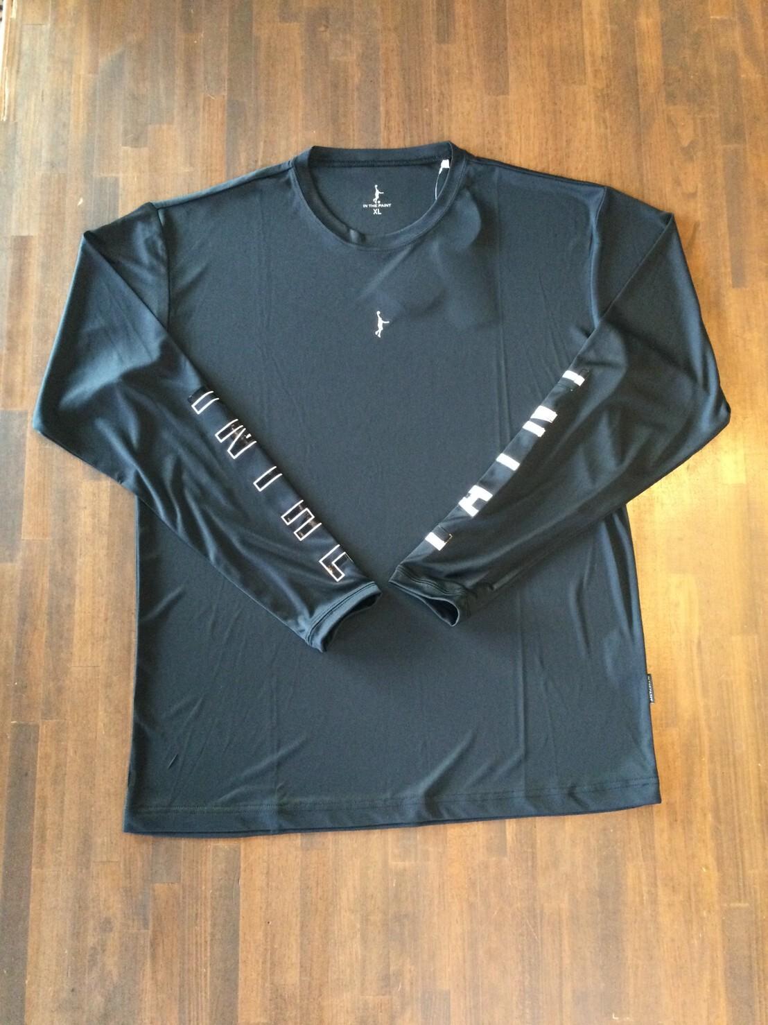 """""""スリムシルエット""""ロングスリーブシャツ ITP20422 ブラック【IN THE PAINT】 インザペイント"""