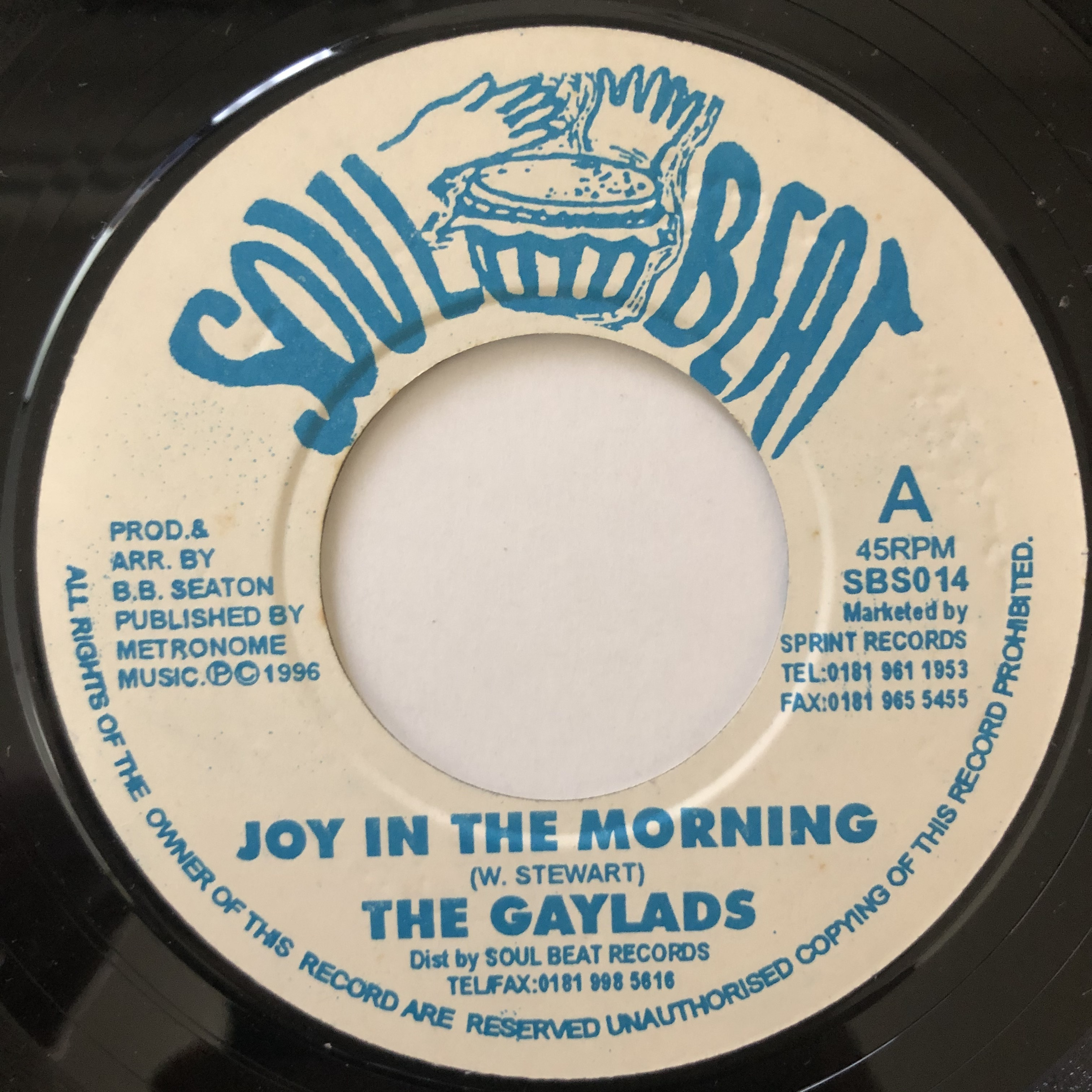 The Gaylads - Joy In The Morning【7-20658】