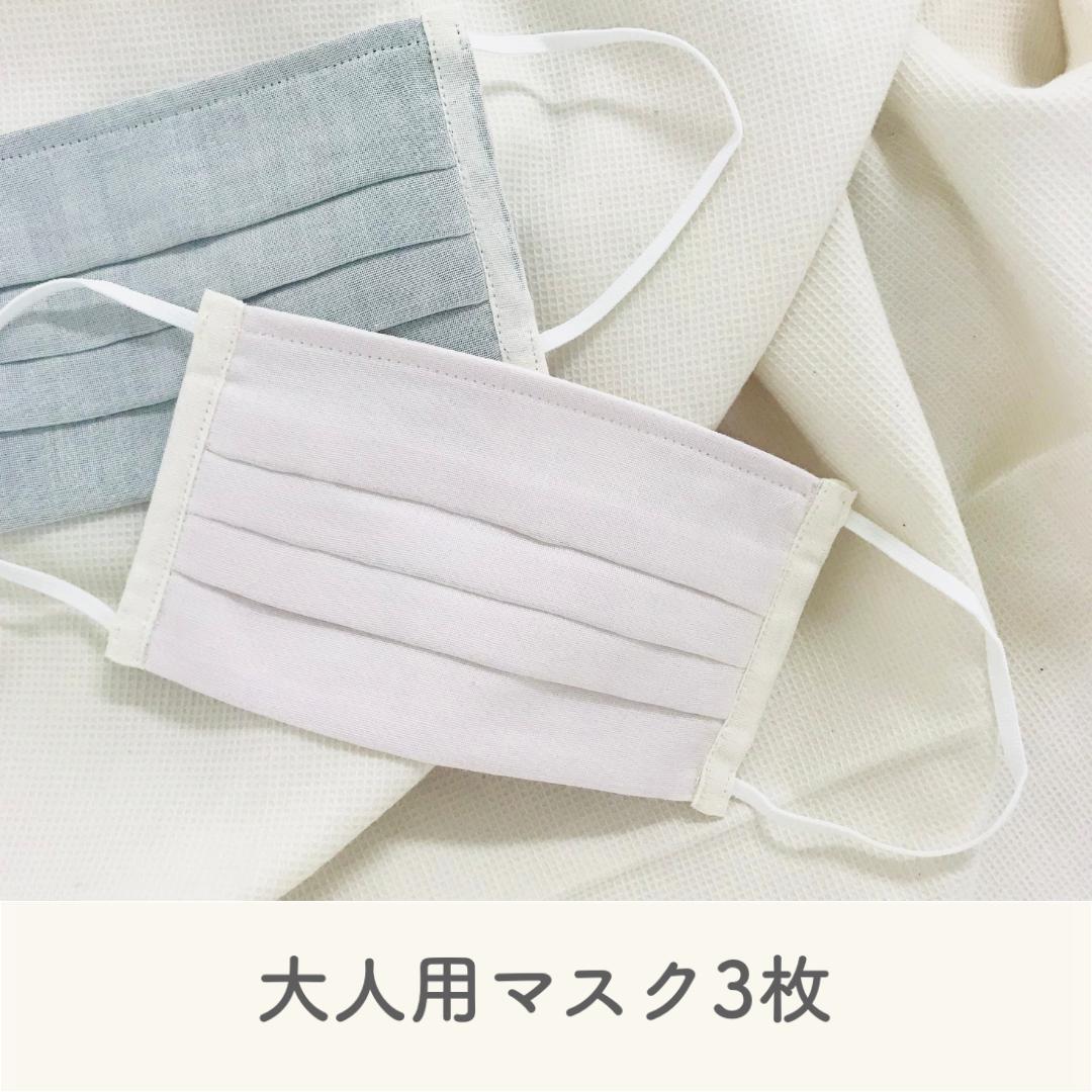 【送料無料】オーガニックコットンマスク(フジイロ3枚セット)