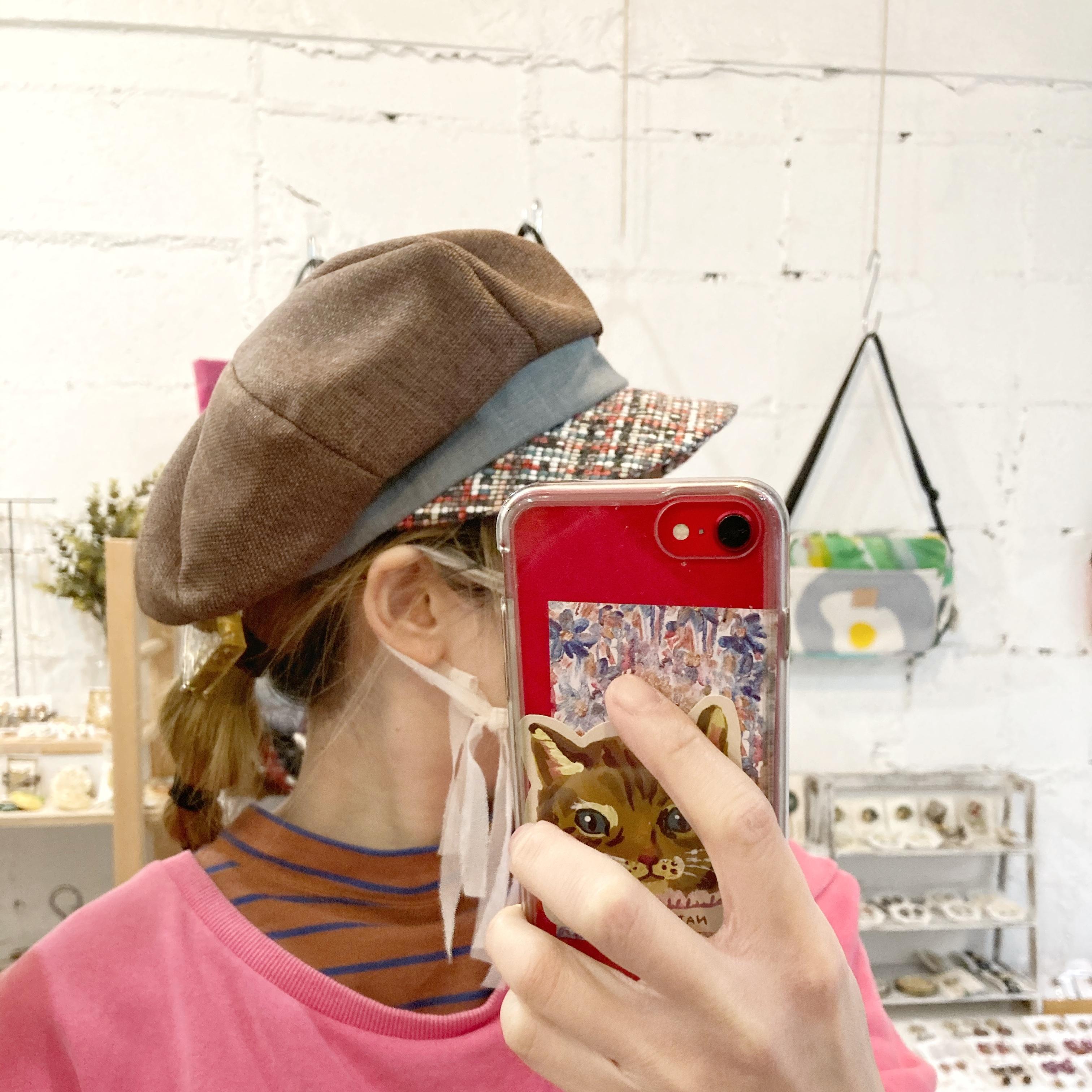 【LuLu de chapeau】キャスケット(ブラウン)