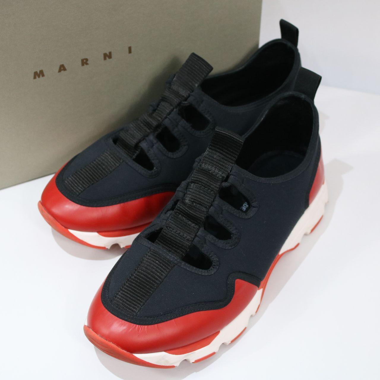 MARNI / マルニ   ツートーンスニーカー   40   ブラック×レッド