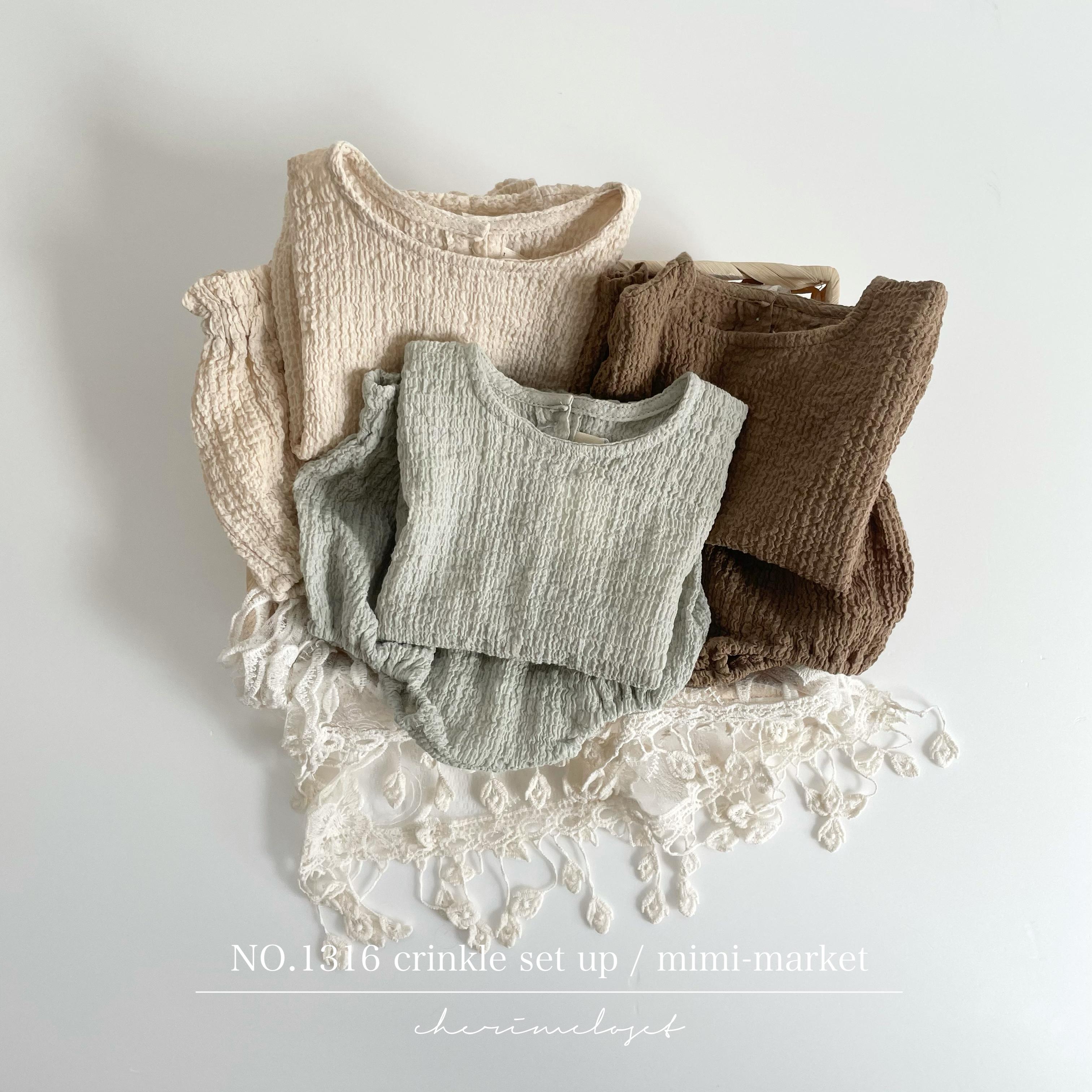 NO.1316 Crinkle setup / mimi - market