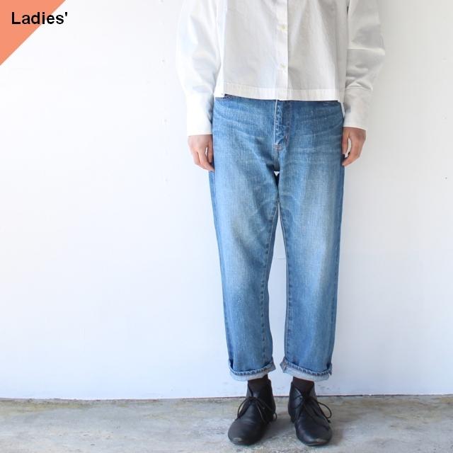 TEXTURE WE MADE デニムアンクルパンツ 12oz Cropped Jeans (Vintage wash)