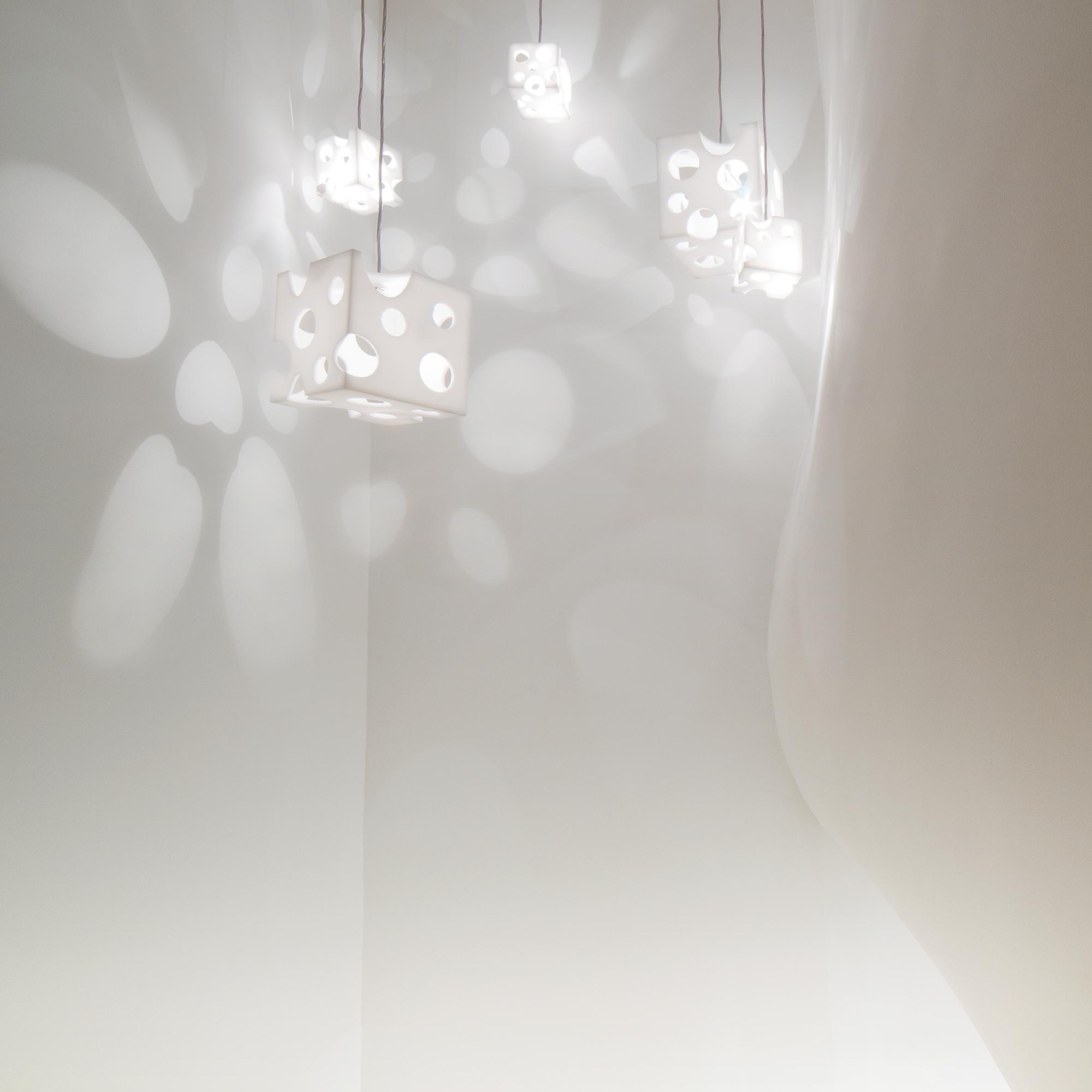 ルミエ・クッペ (白 ) - Lumière Coupée (White)- W300xD300xH300mm