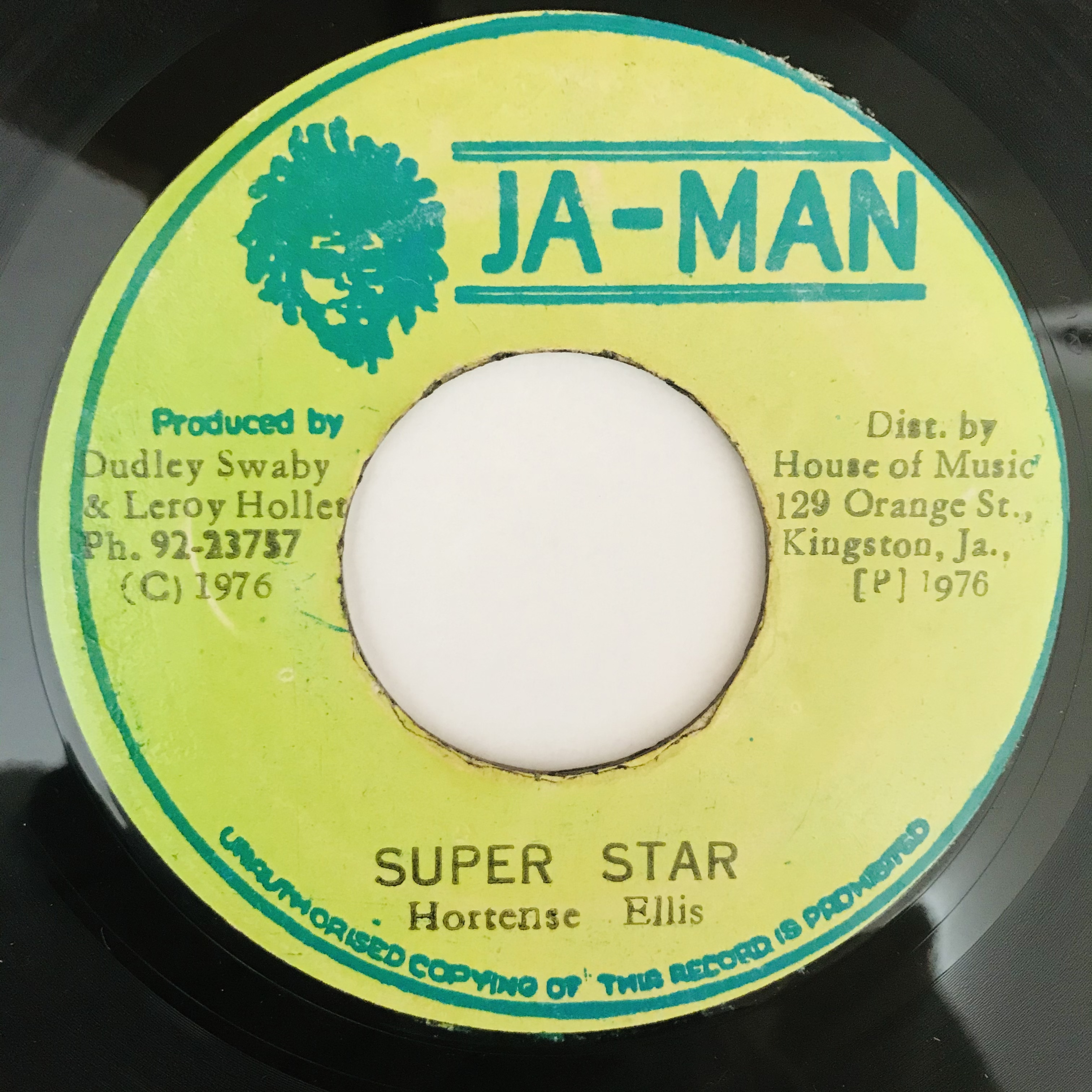 Hortense Ellis - Super Star 【7-10922】