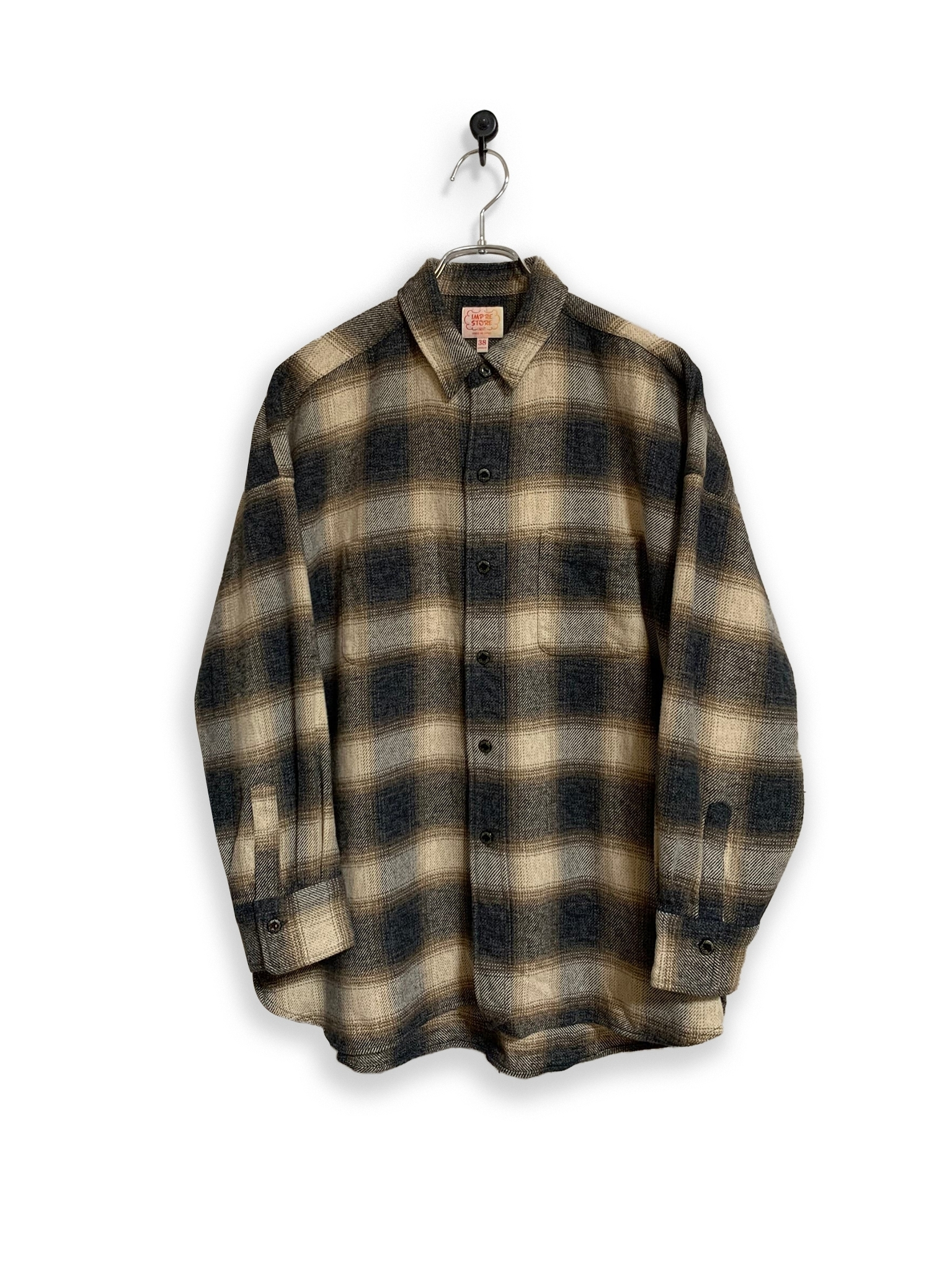 Onbray check flannel shirt/brown