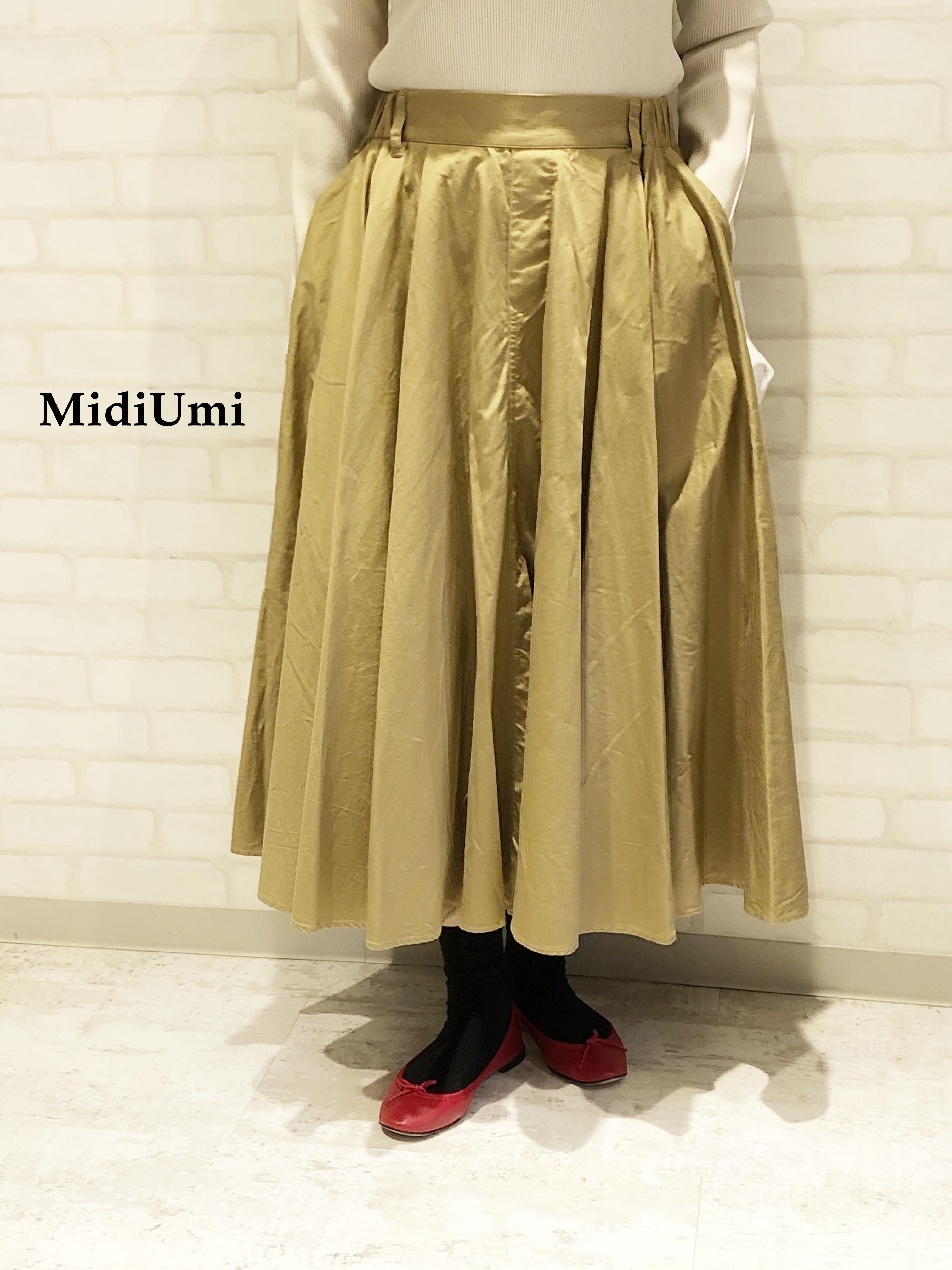 MidiUmi/フレアーロングスカート/01406