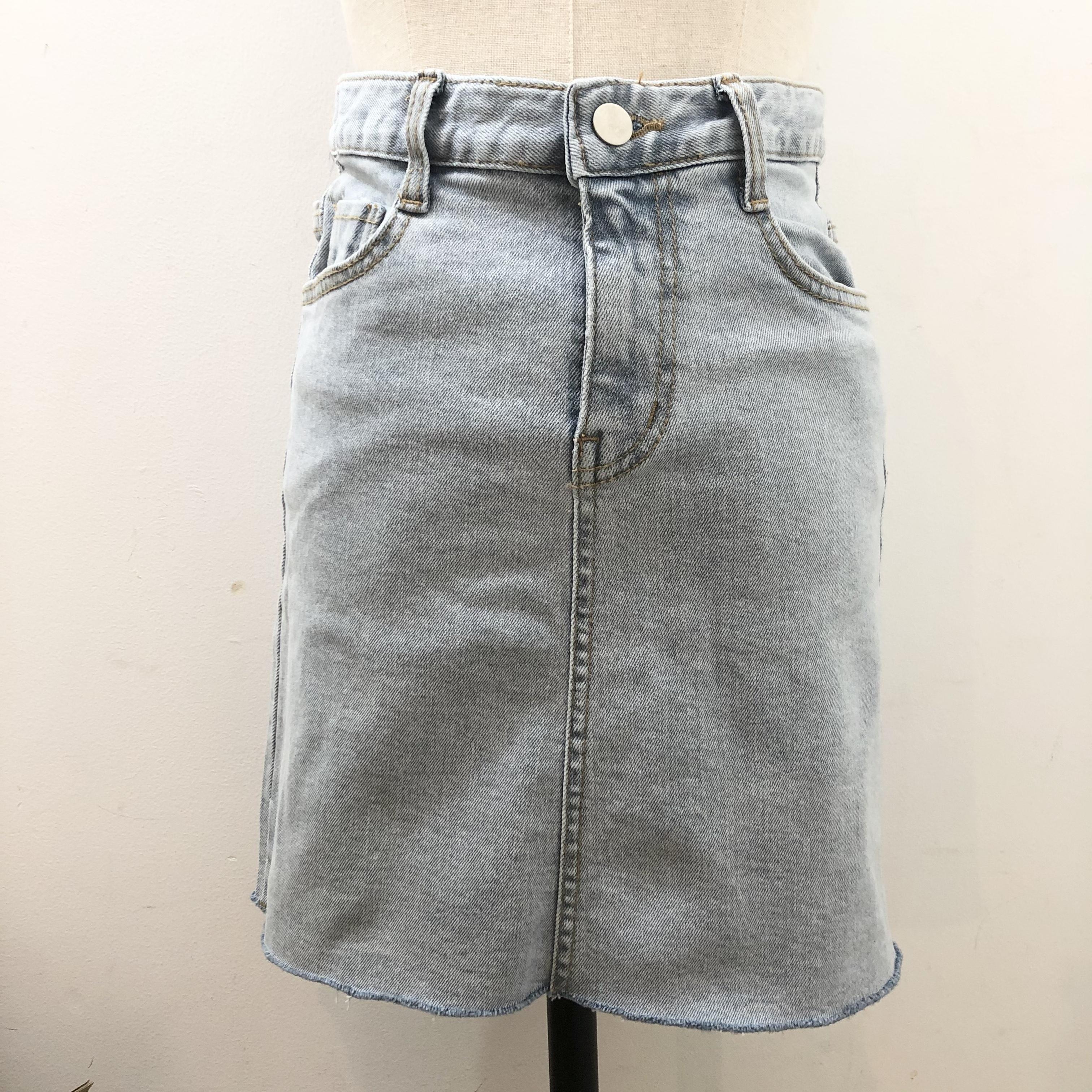 NANA * cutoff denim skirt