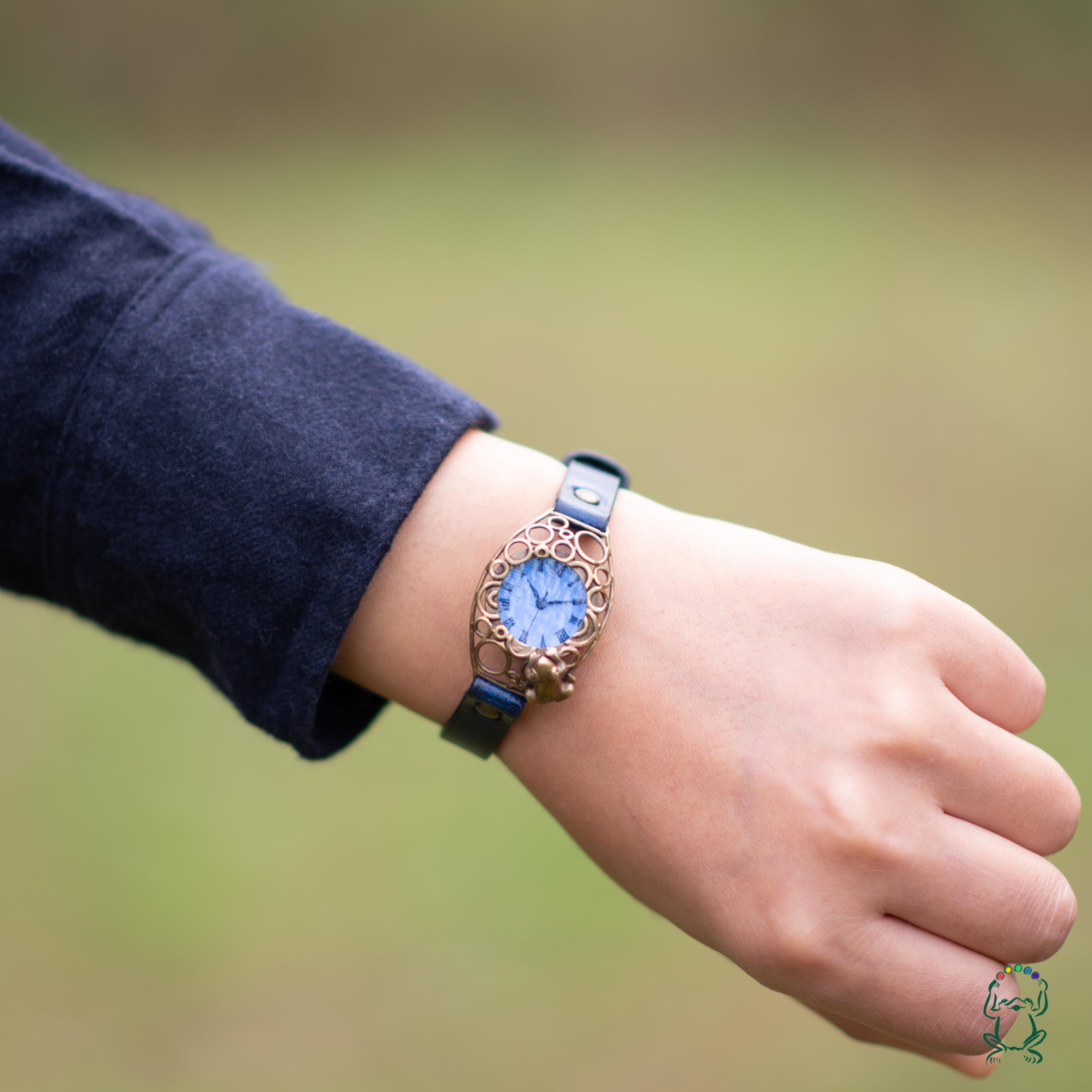 【T様専用ページ】水泡立つ池腕時計Sパステルブルー