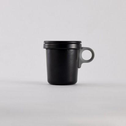 ovject (オブジェクト) ほうろうフックマグ 360ml ブラック/グレー (琺瑯)