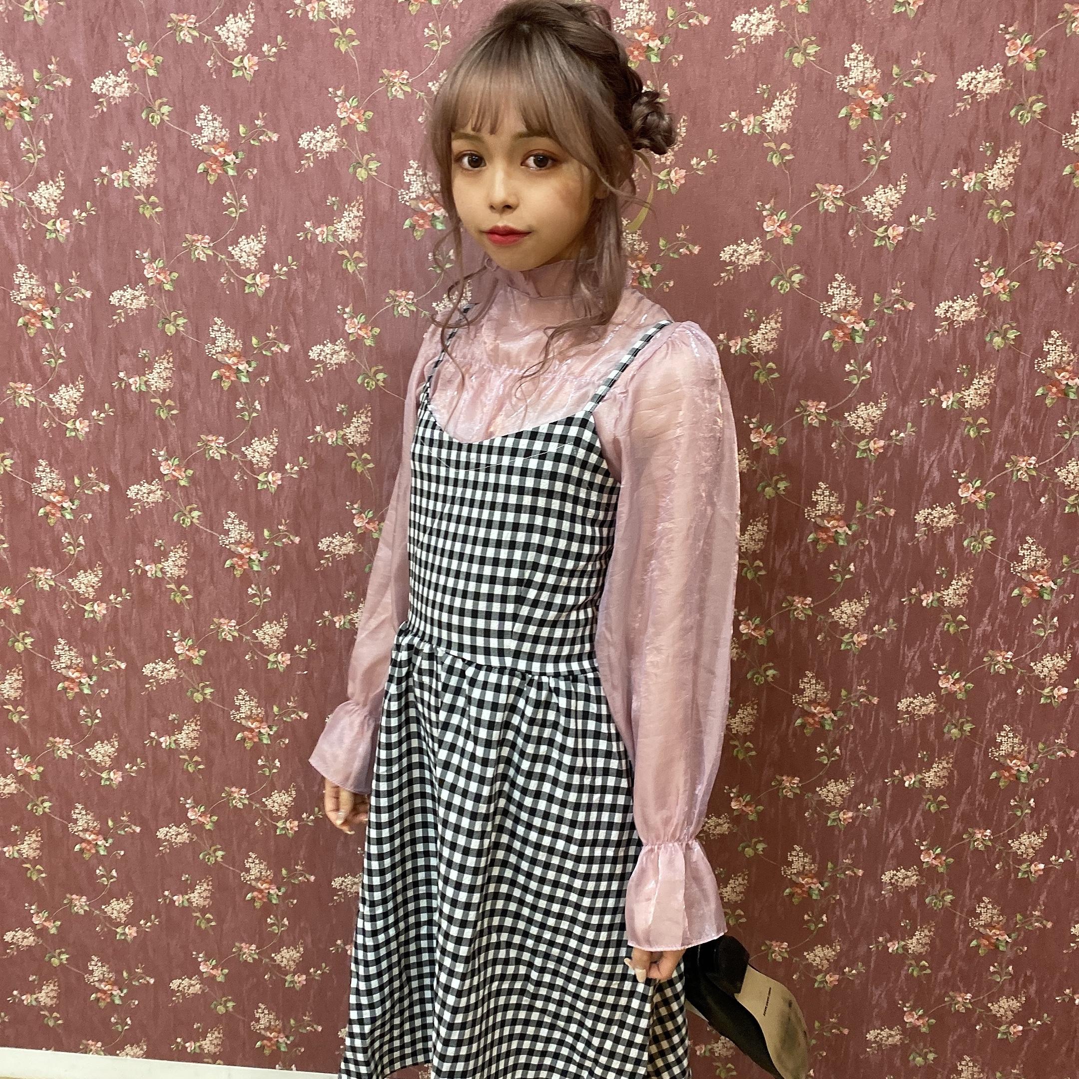【ViVi11月号掲載】lovely sheer blouse