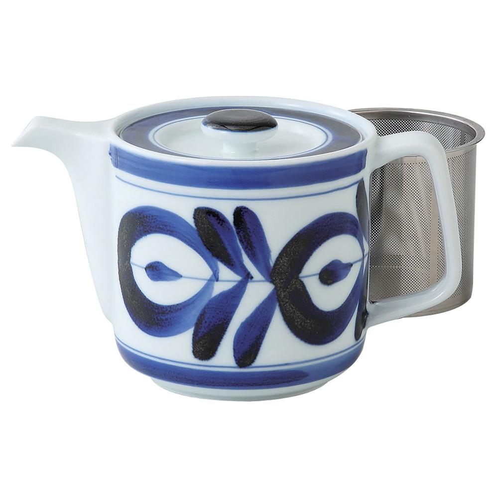 西海陶器 波佐見焼 マジョリカ スーパーステンレス茶こし ポット 60157